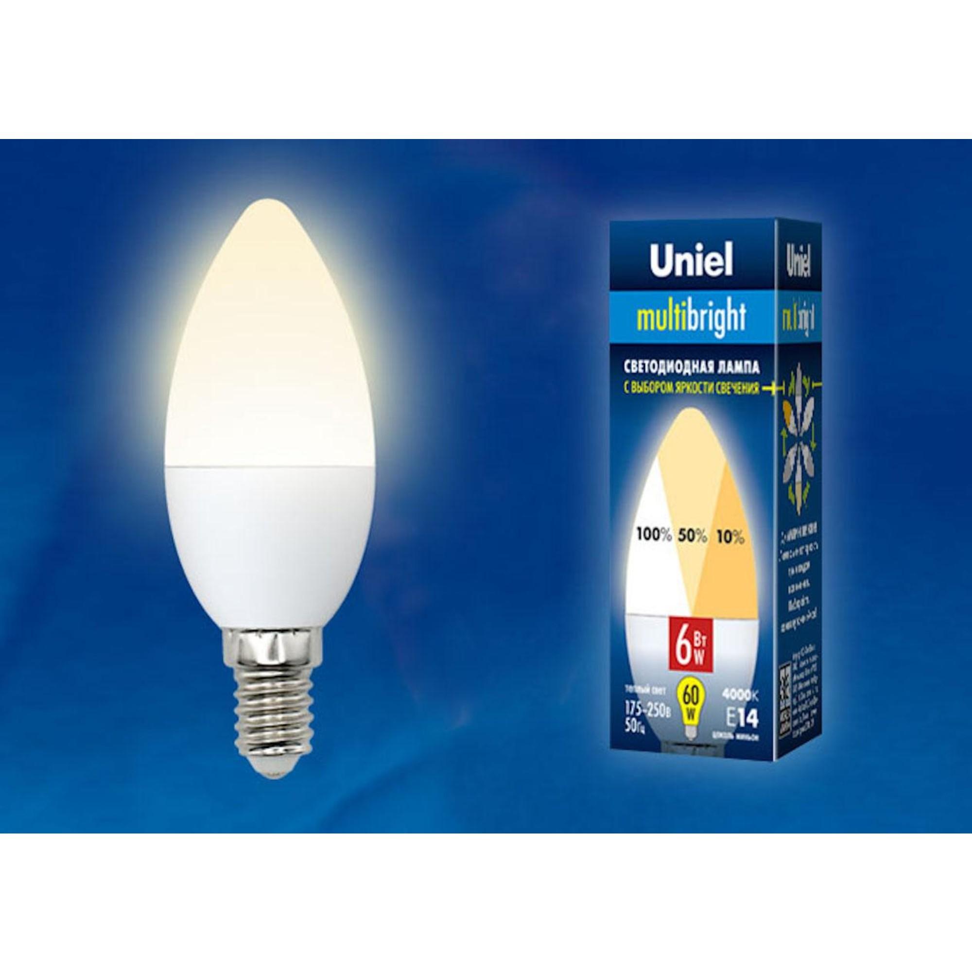Светодиодная лампочка Uniel LED-C37-6W Multibright UL-00002373