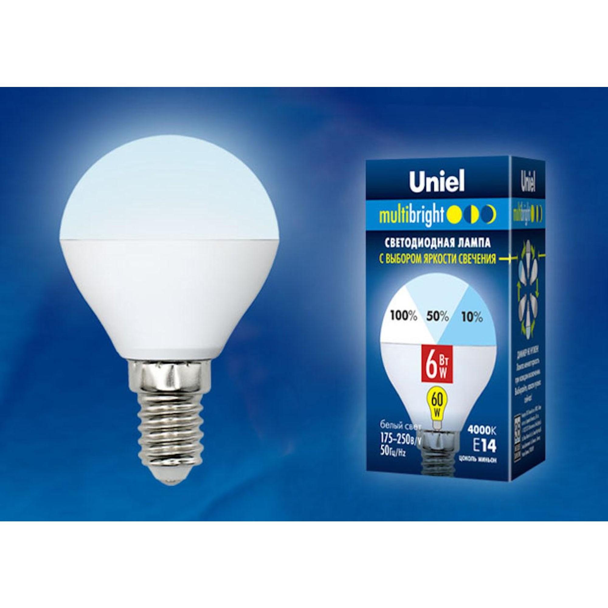 Светодиодная лампочка Uniel LED-G45-6W Multibright UL-00002376