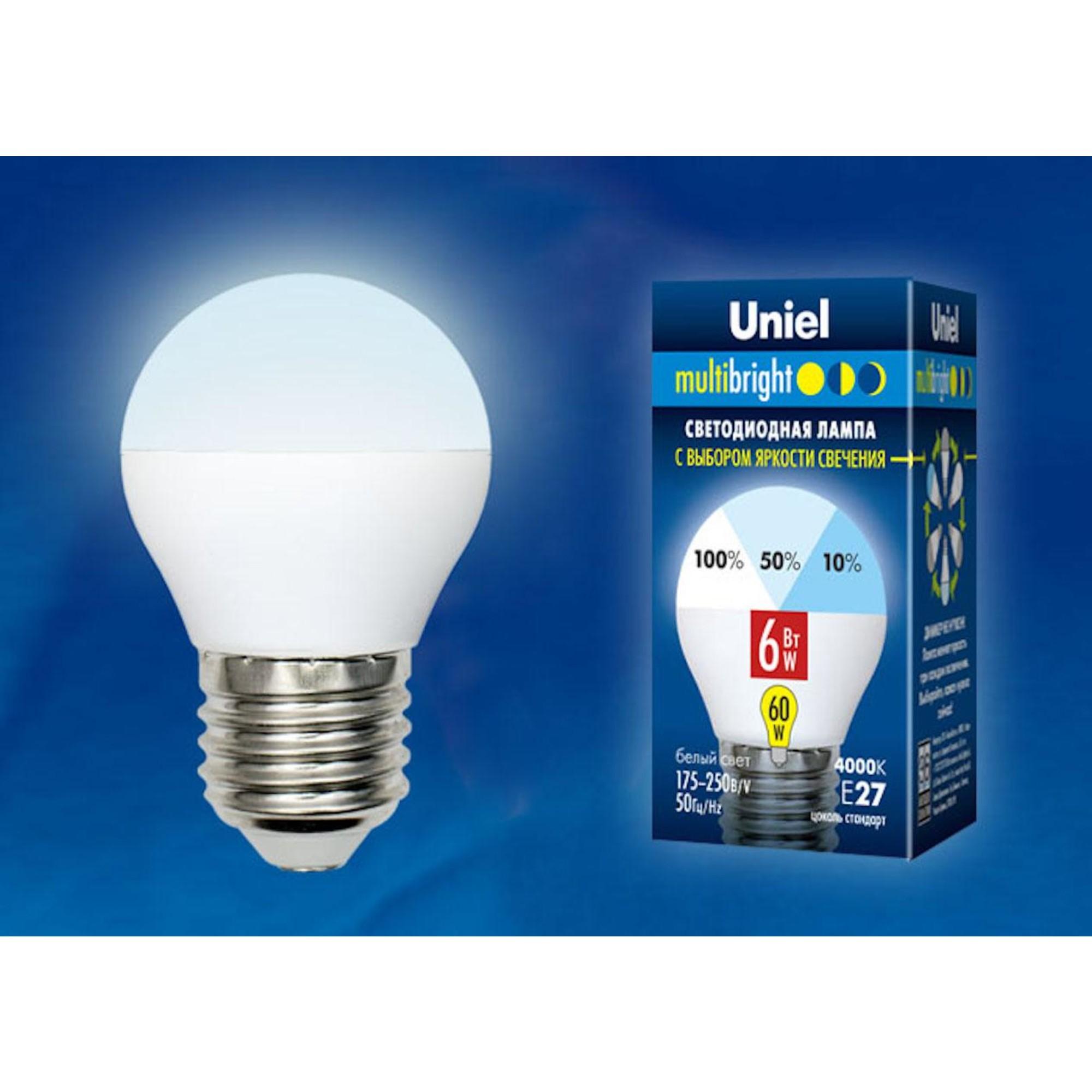 Светодиодная лампочка Uniel LED-G45-6W Multibright UL-00002378