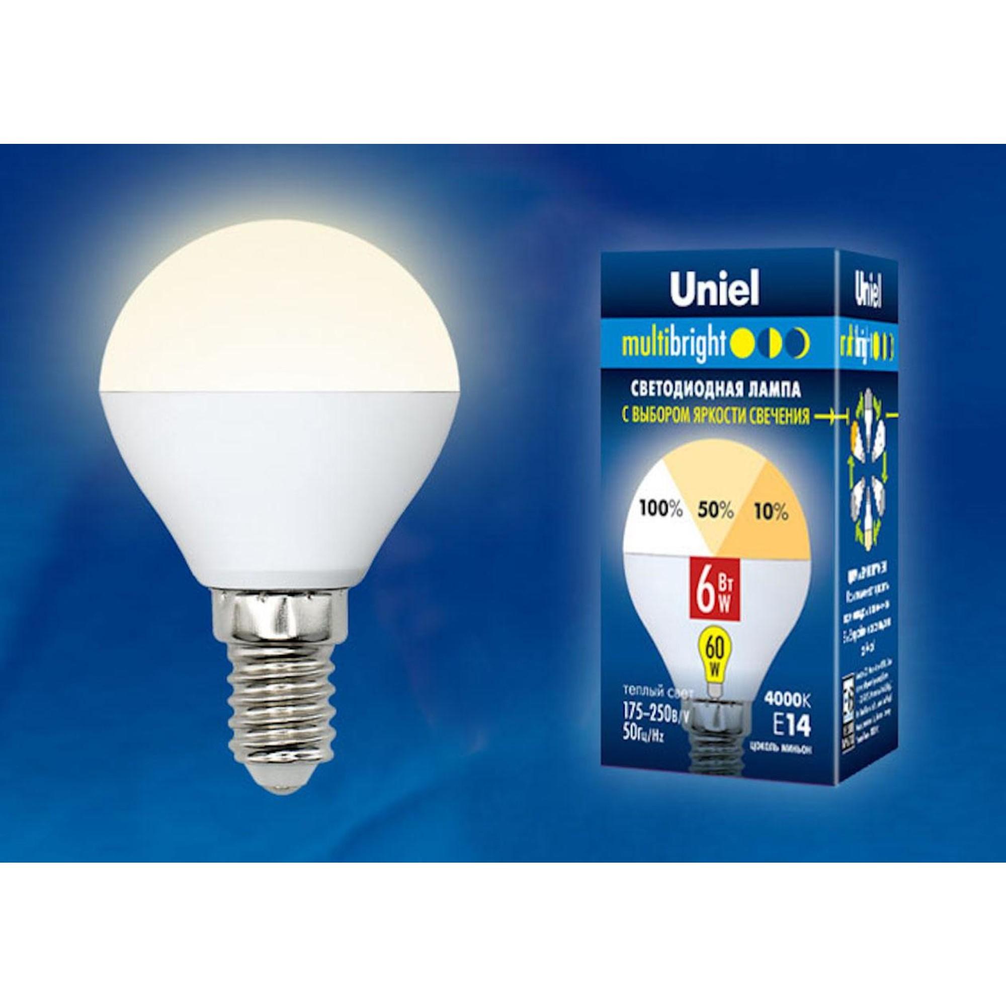 Светодиодная лампочка Uniel LED-G45-6W Multibright UL-00002375
