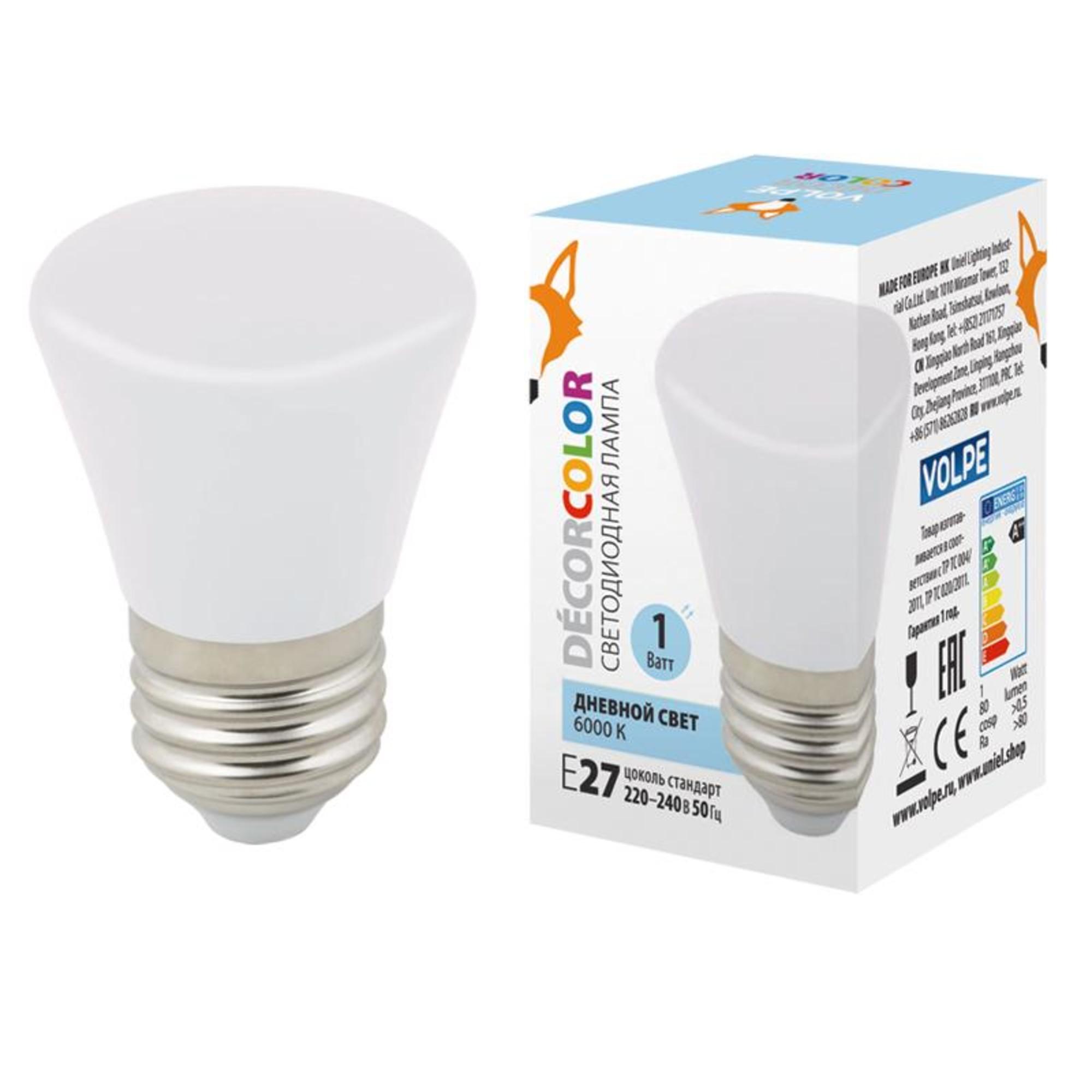 Светодиодная лампочка Volpe LED-D45-1W DÉCOR COLOR UL-00005804