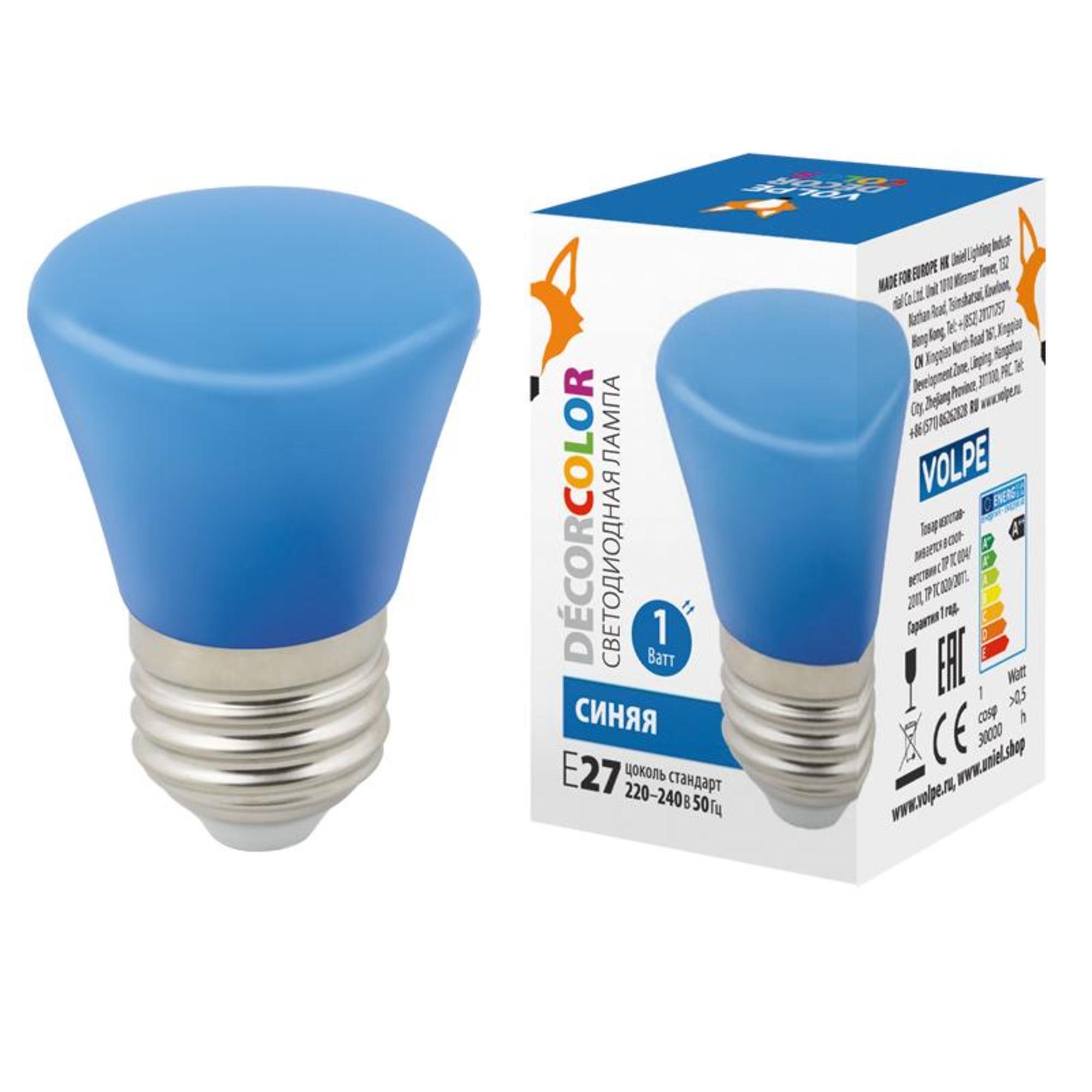 Светодиодная лампочка Volpe LED-D45-1W DÉCOR COLOR UL-00005639