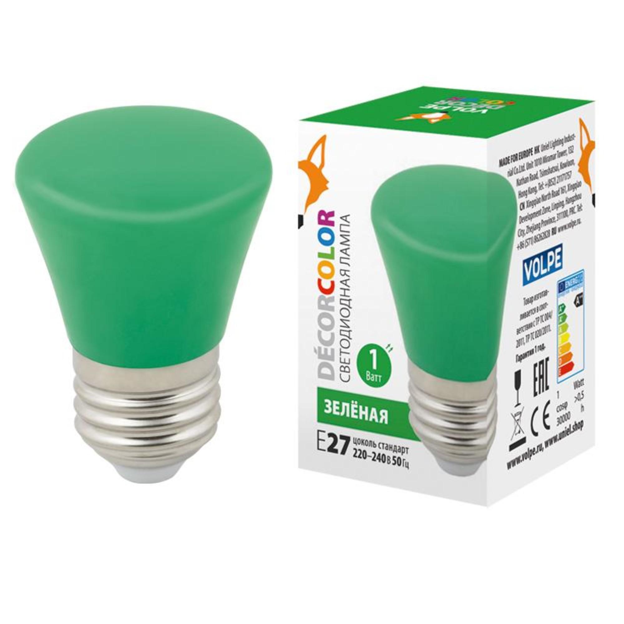 Светодиодная лампочка Volpe LED-D45-1W DÉCOR COLOR UL-00005640