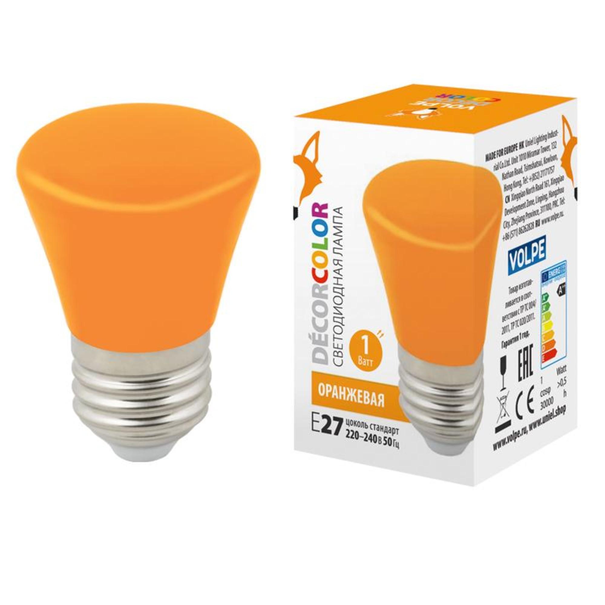 Светодиодная лампочка Volpe LED-D45-1W DÉCOR COLOR UL-00005642