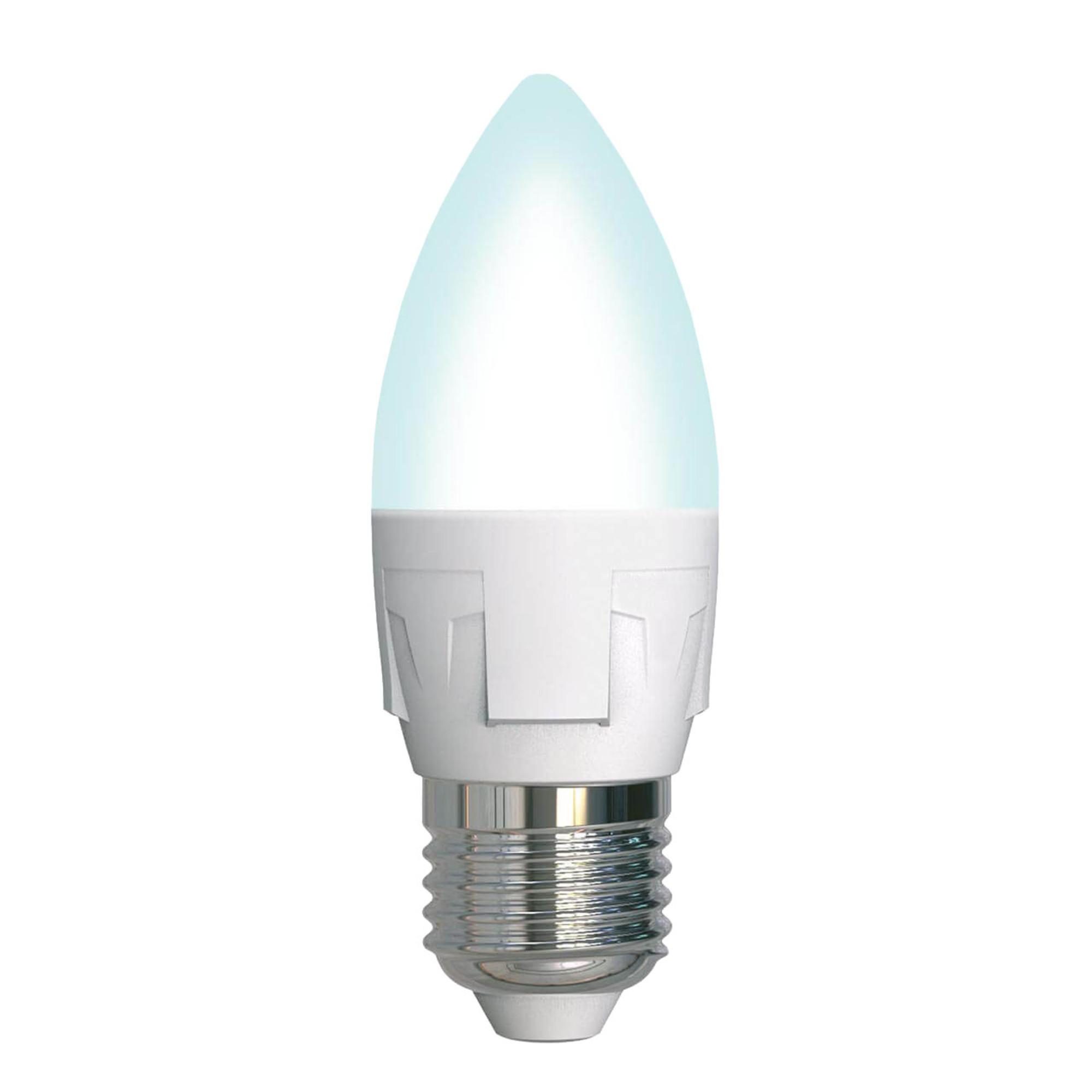 Лампа светодиодная Uniel Яркая Dimmable E27 свеча 600 Лм 7 Вт нейтральный белый
