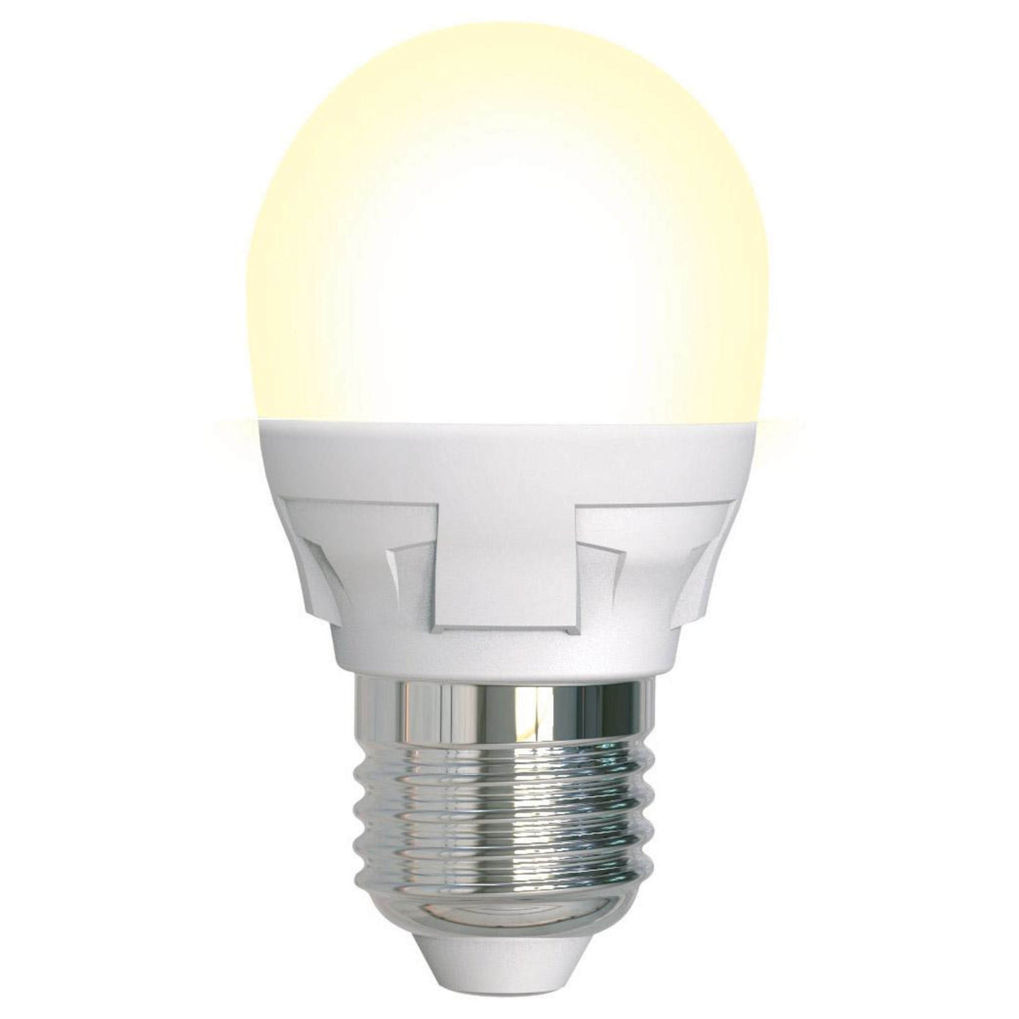 Лампа светодиодная Uniel Яркая Dimmable E27 шар 600 Лм 7 Вт теплый белый (желтый)
