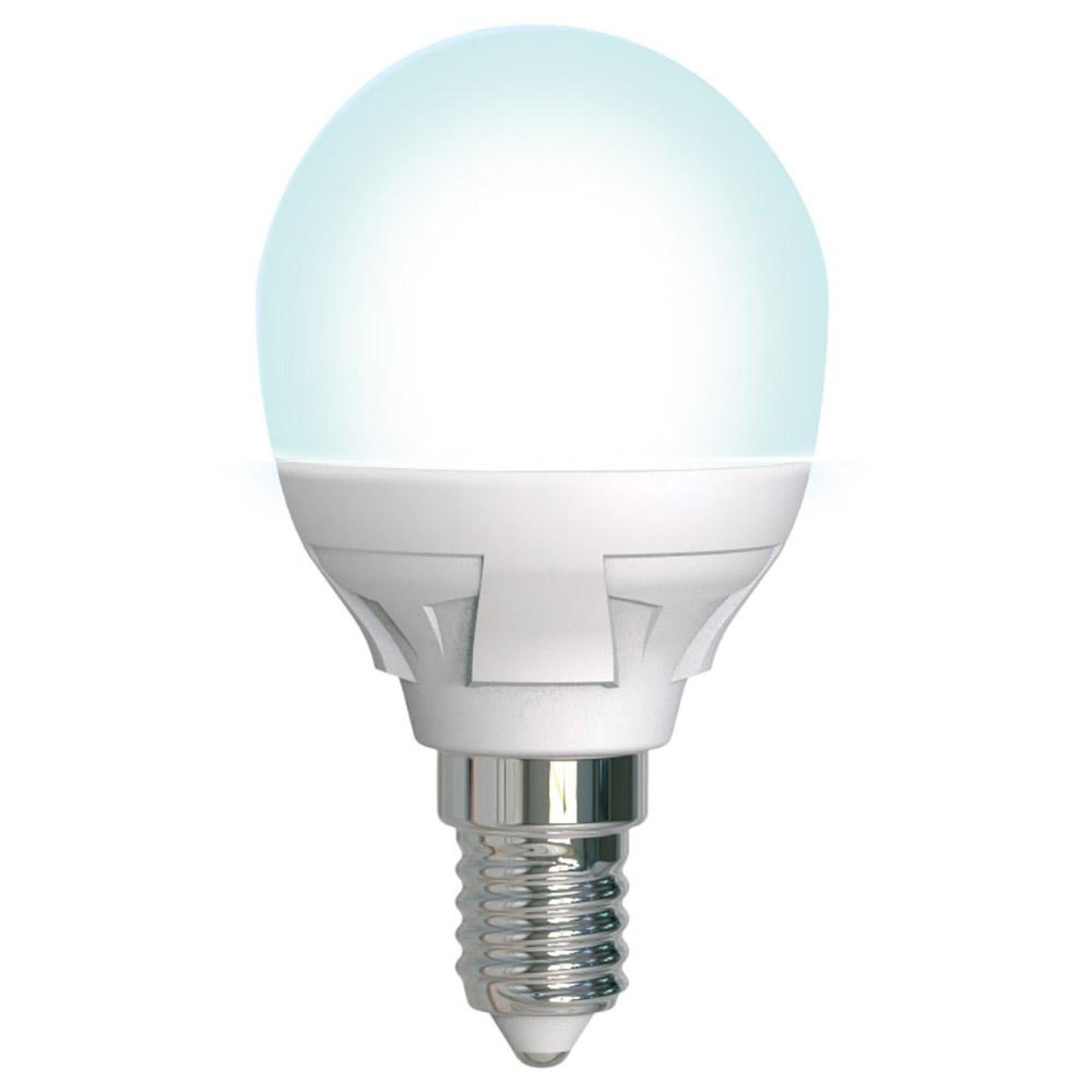 Лампа светодиодная Uniel Яркая Dimmable E14 шар 600 Лм 7 Вт нейтральный белый