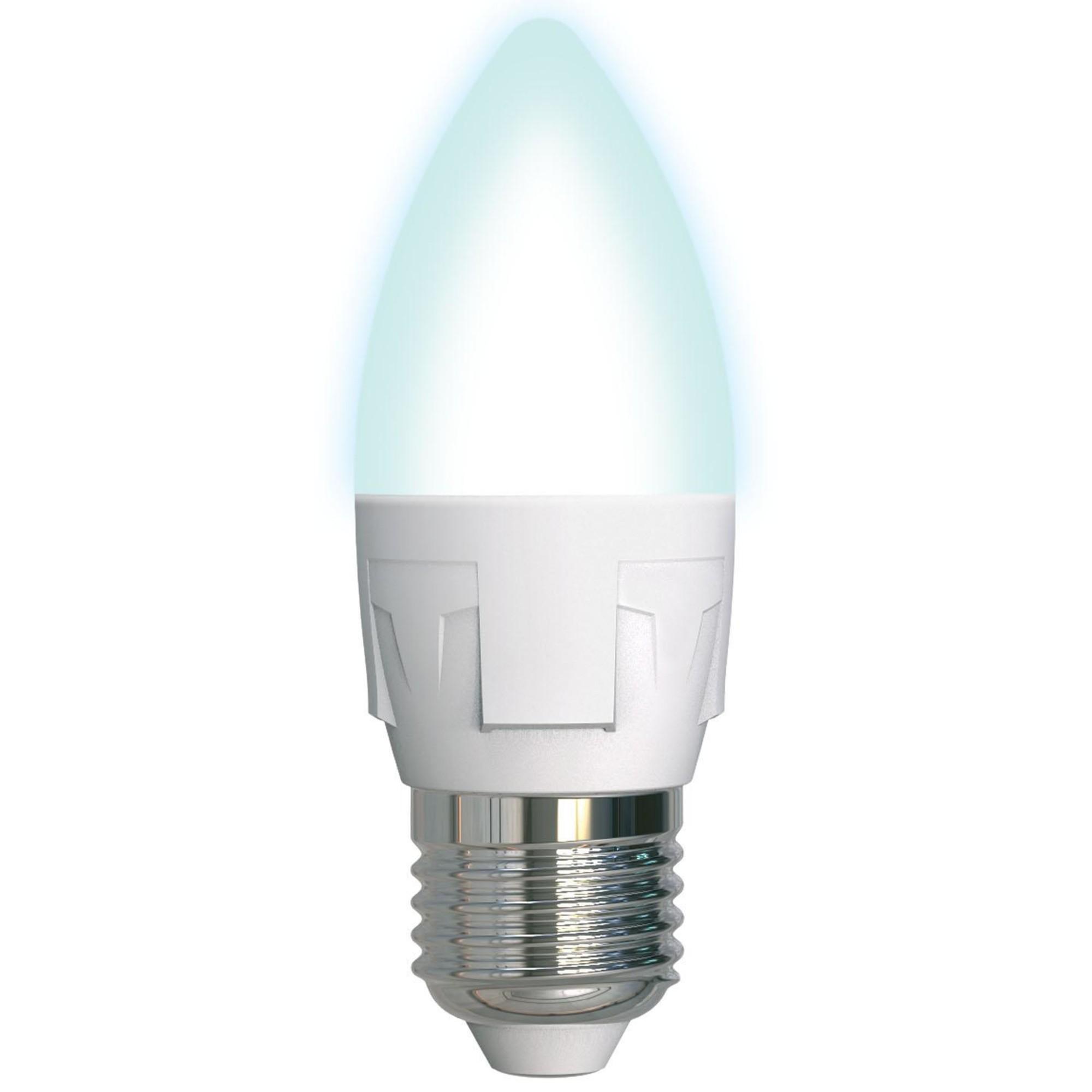 Лампа светодиодная Uniel Яркая E27 свеча 600 Лм 7 Вт нейтральный белый