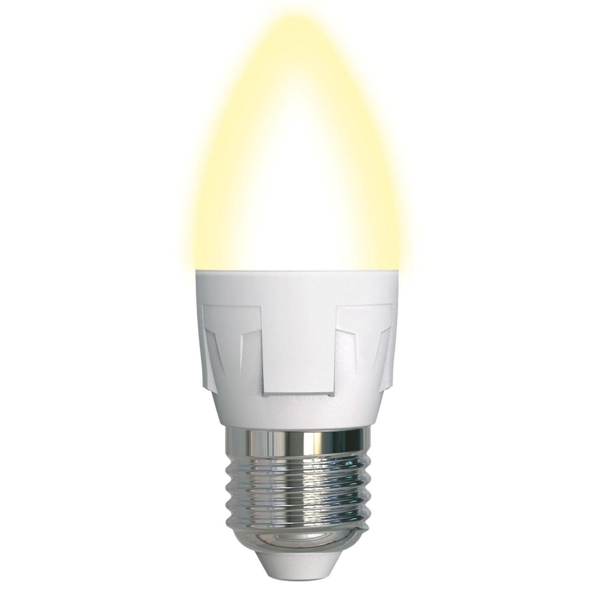 Лампа светодиодная Uniel Яркая E27 свеча 600 Лм 7 Вт теплый белый (желтый)