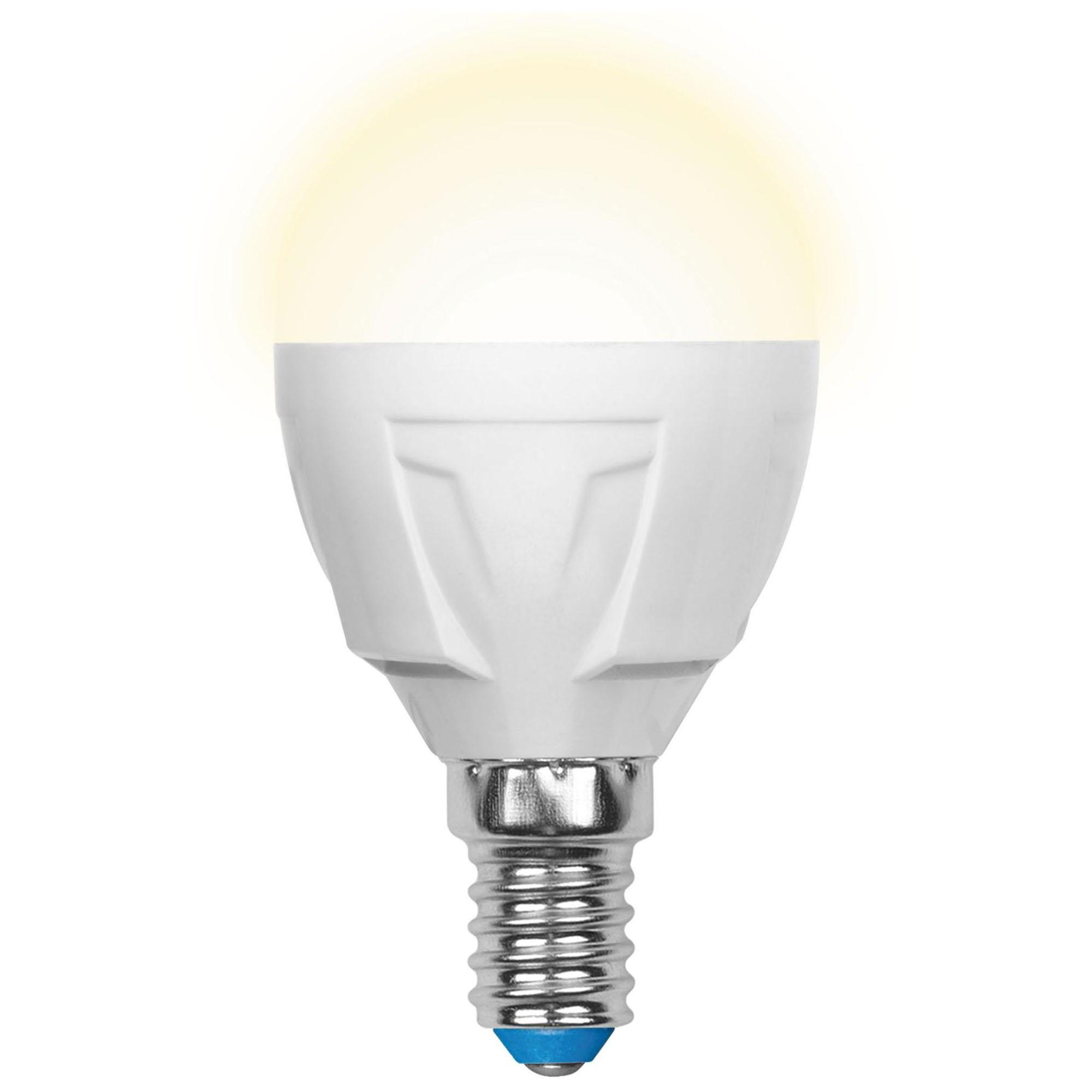 Лампа светодиодная Uniel Яркая E14 шар 600 Лм 7 Вт теплый белый (желтый)