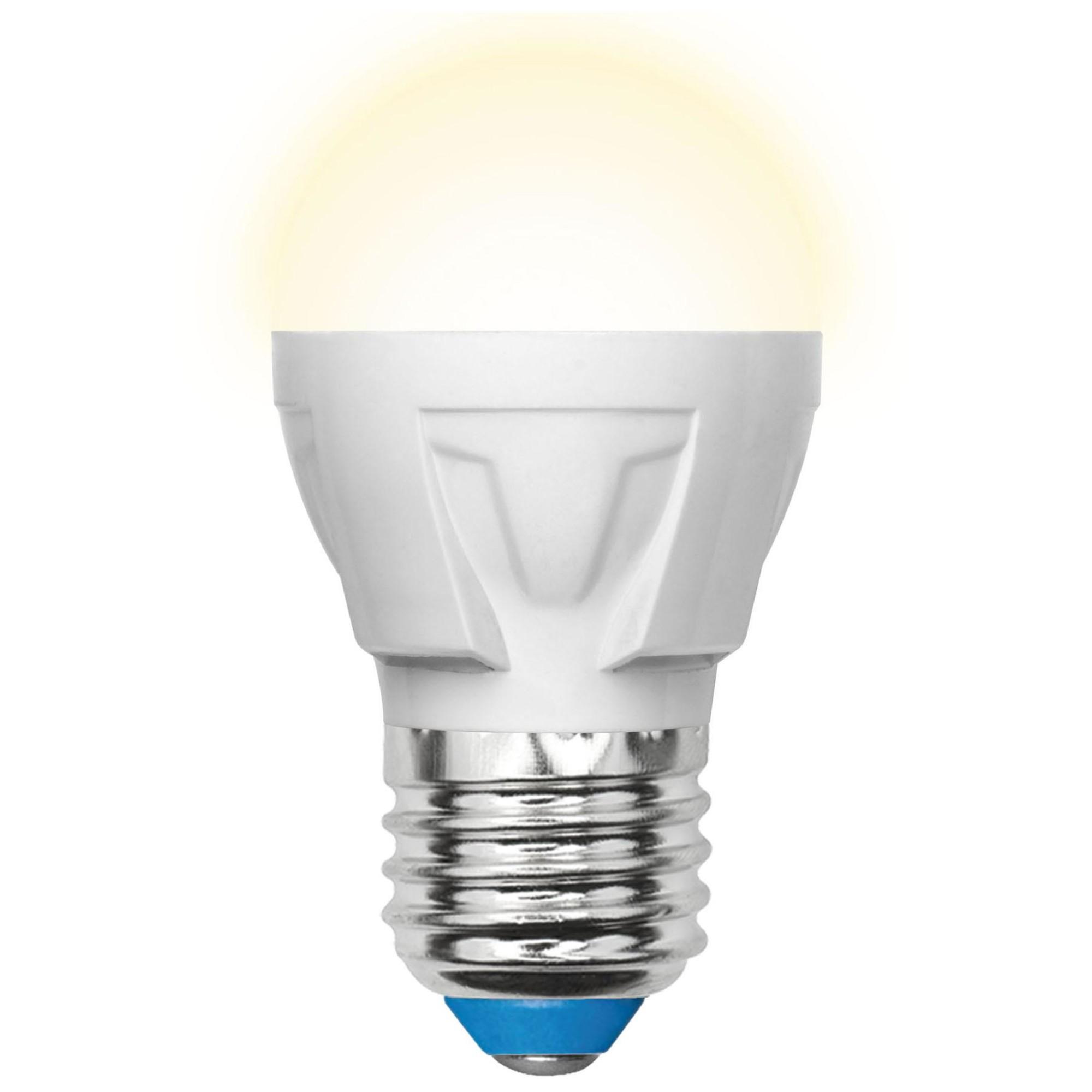 Лампа светодиодная Uniel Яркая E27 шар 600 Лм 7 Вт теплый белый (желтый)