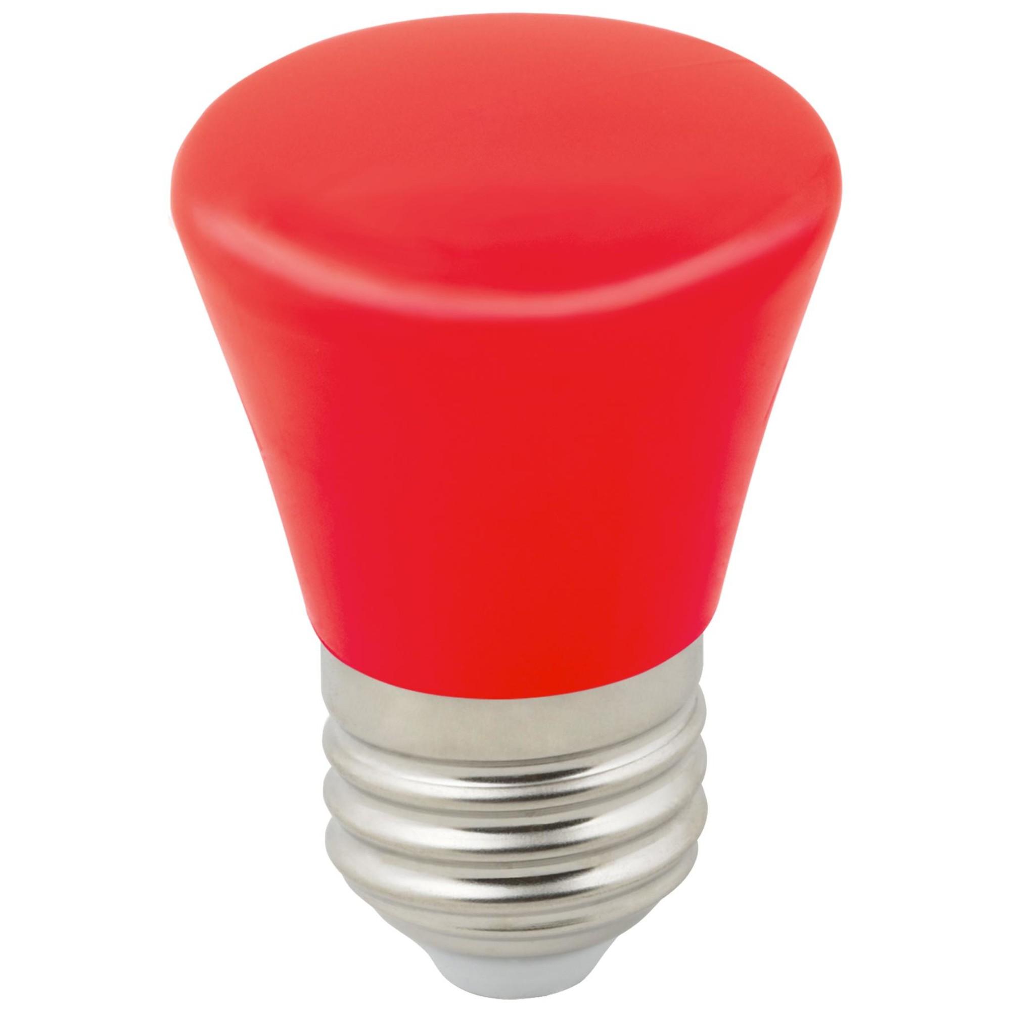 Лампа светодиодная Volpe Décor Color E27 колокольчик  Лм 1 Вт красный