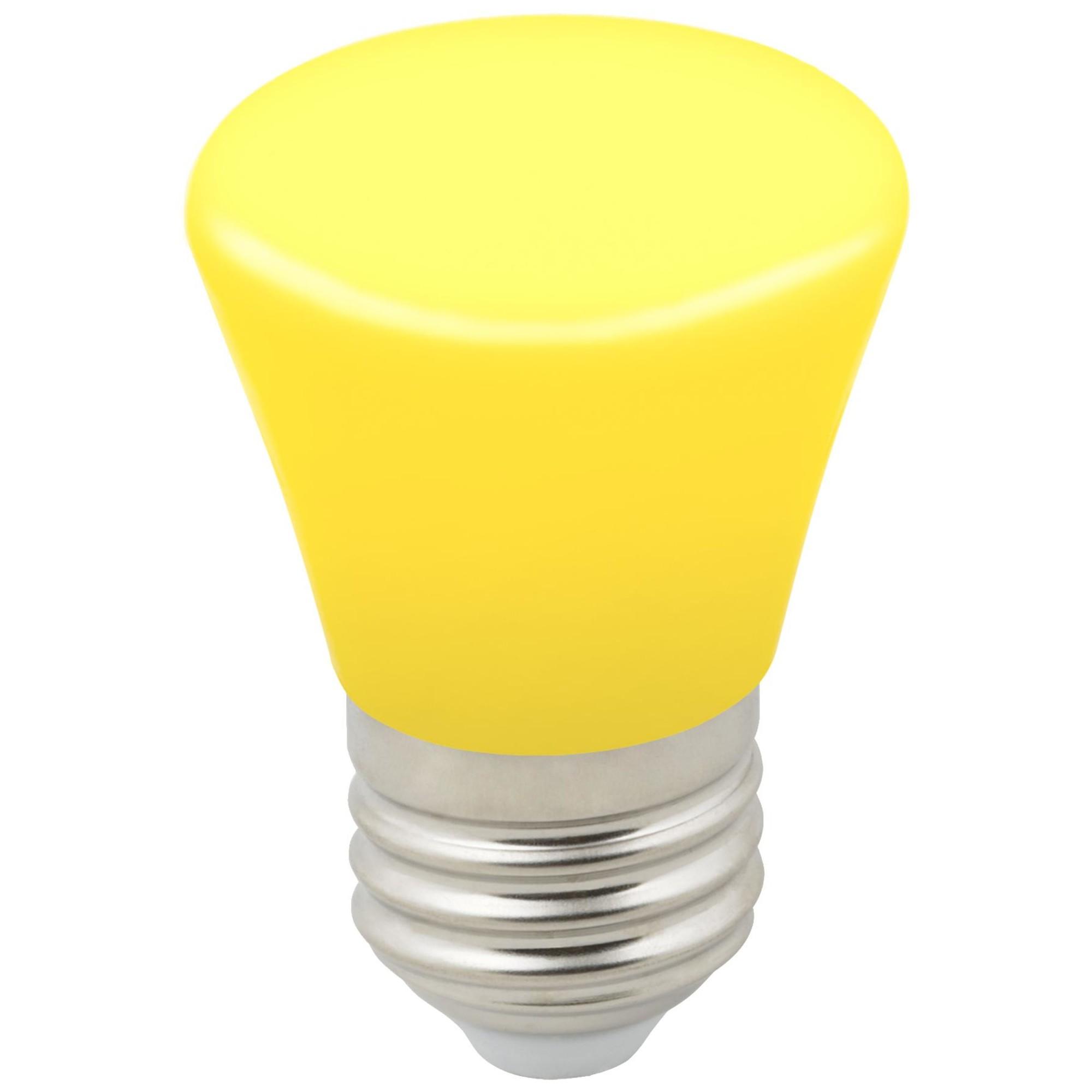 Лампа светодиодная Volpe Décor Color E27 колокольчик  Лм 1 Вт желтый