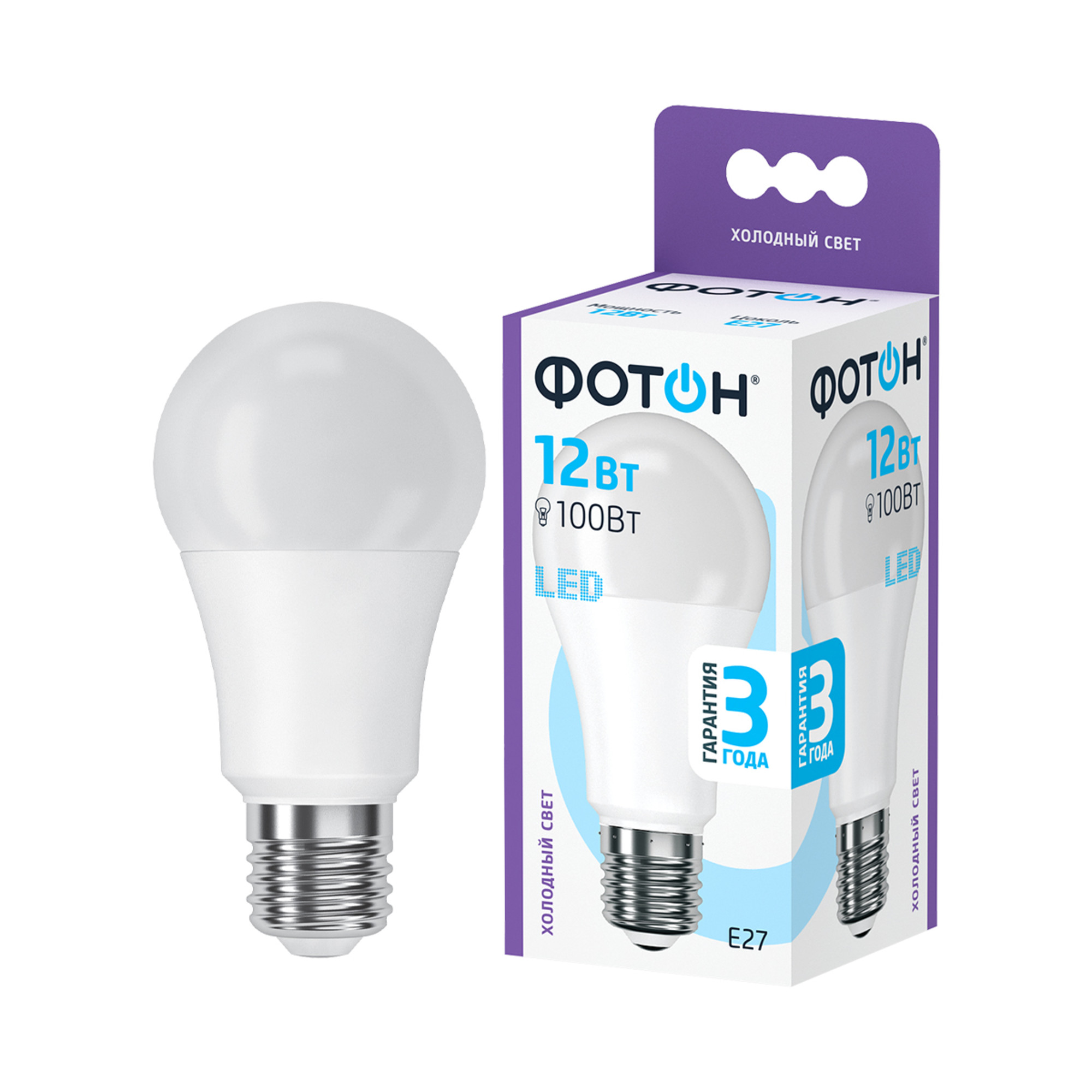 Светодиодная лампочка Фотон 23393 E27 1050 Лм 12 Вт