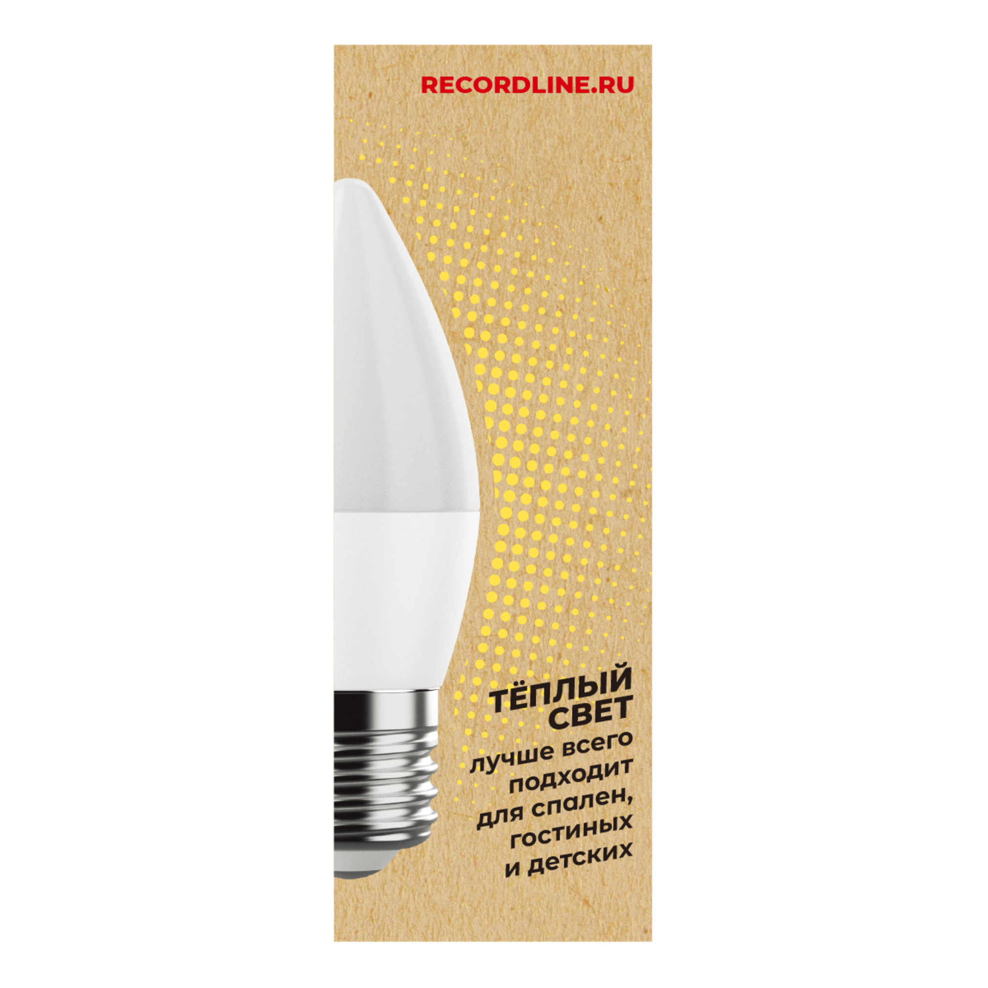 Светодиодная лампочка Рекорд 23881 E27 70 Лм 7 Вт
