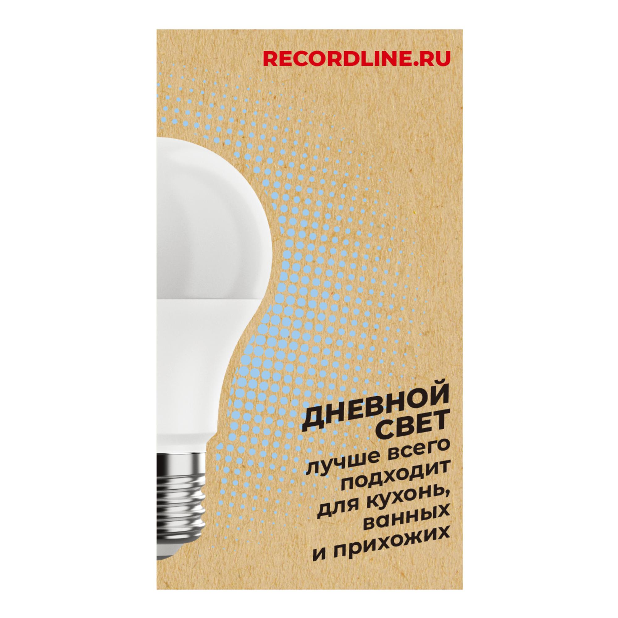Светодиодная лампочка Рекорд 23876 E27 100 Лм 10 Вт