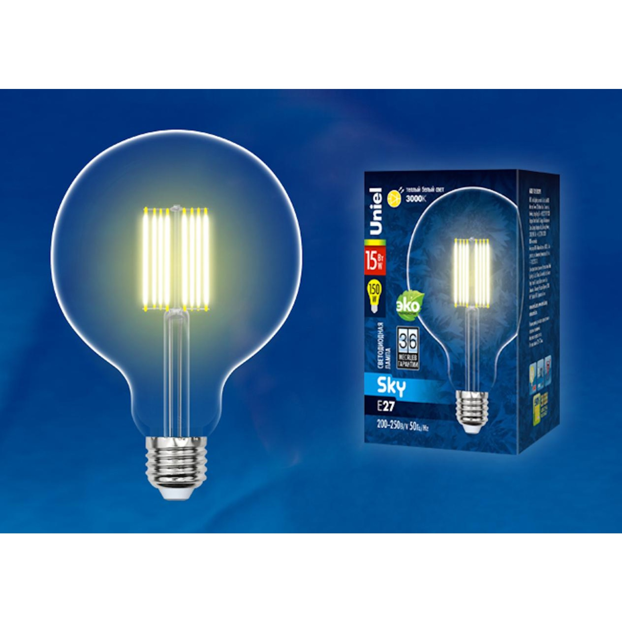 Светодиодная лампочка Uniel UL-00004860 E27 1500 Лм 15 Вт