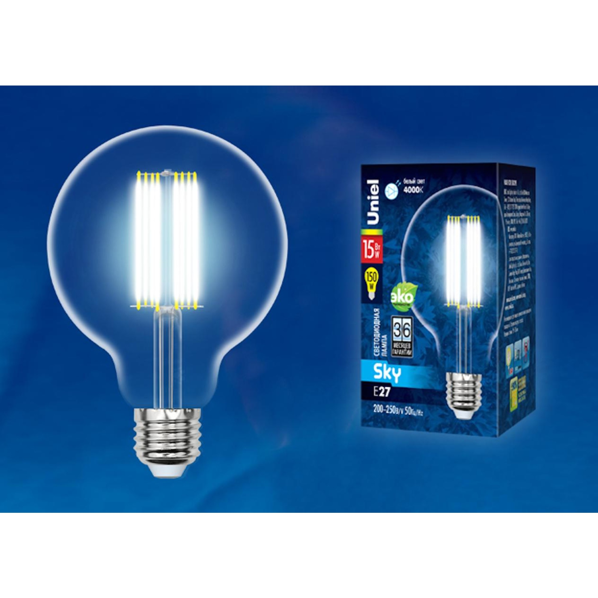 Светодиодная лампочка Uniel UL-00004865 E27 1500 Лм 15 Вт