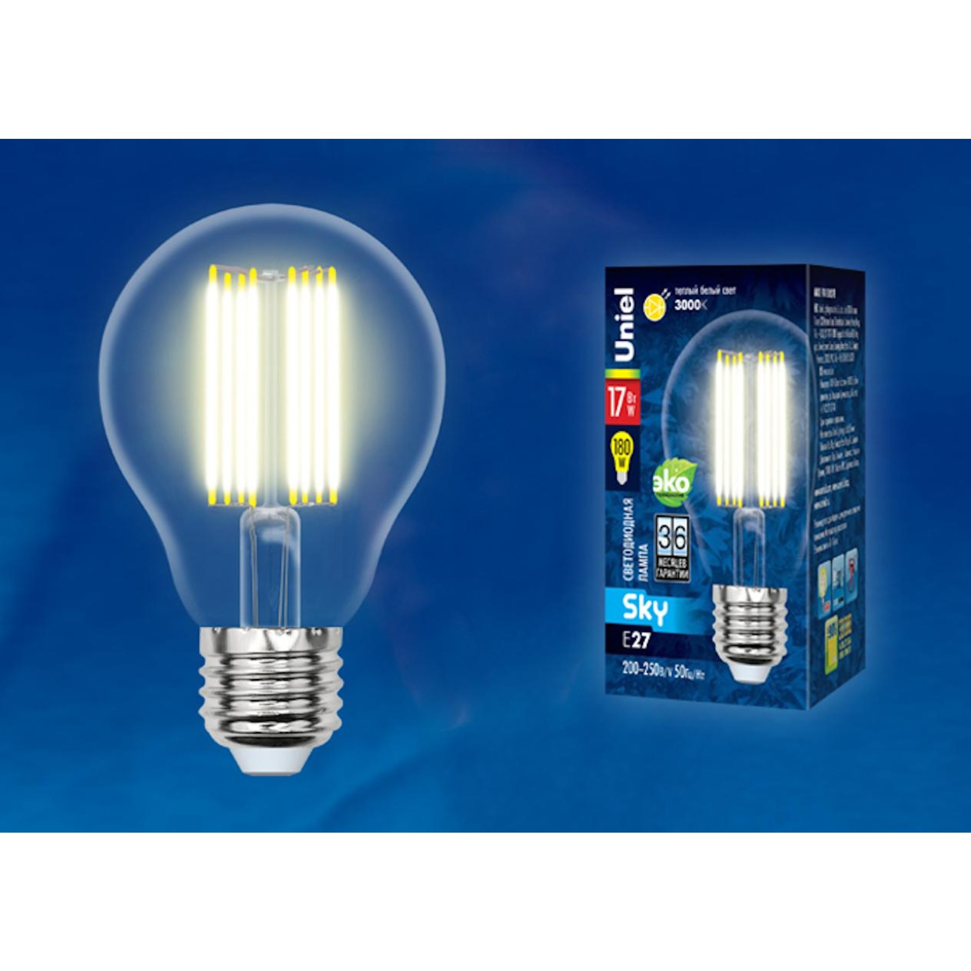 Светодиодная лампочка Uniel UL-00004870 E27 1800 Лм 17 Вт