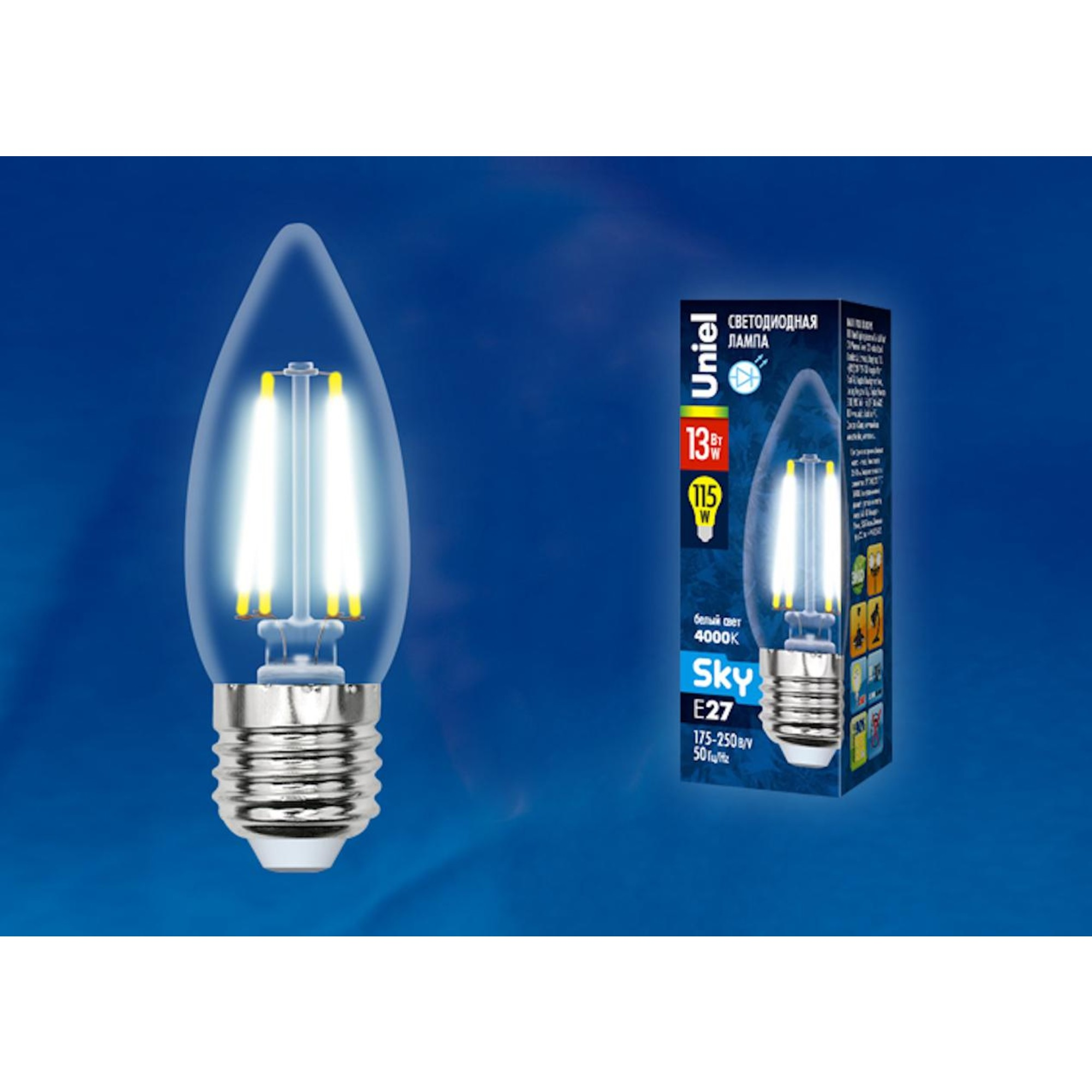 Светодиодная лампочка Uniel UL-00005902 E27 1150 Лм 13 Вт