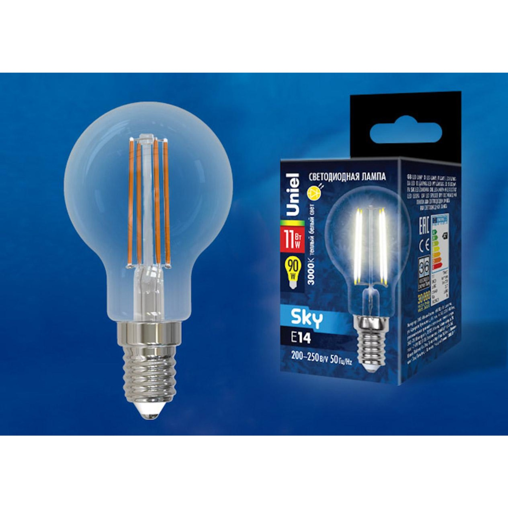 Светодиодная лампочка Uniel UL-00005176 E14 900 Лм 11 Вт