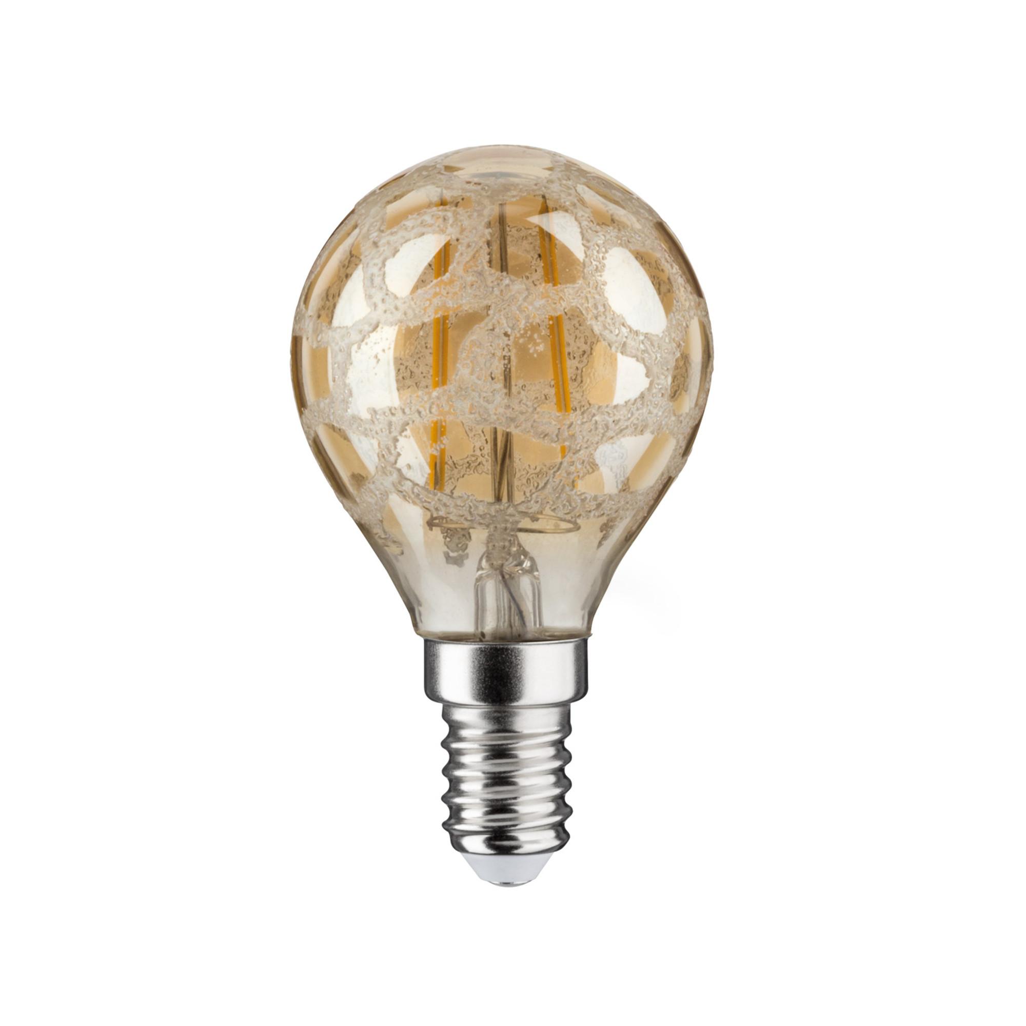 Лампа филаментная Paulmann Капля 2.5Вт 220лм 2500К E14 230В Золотой кроколед 28368.