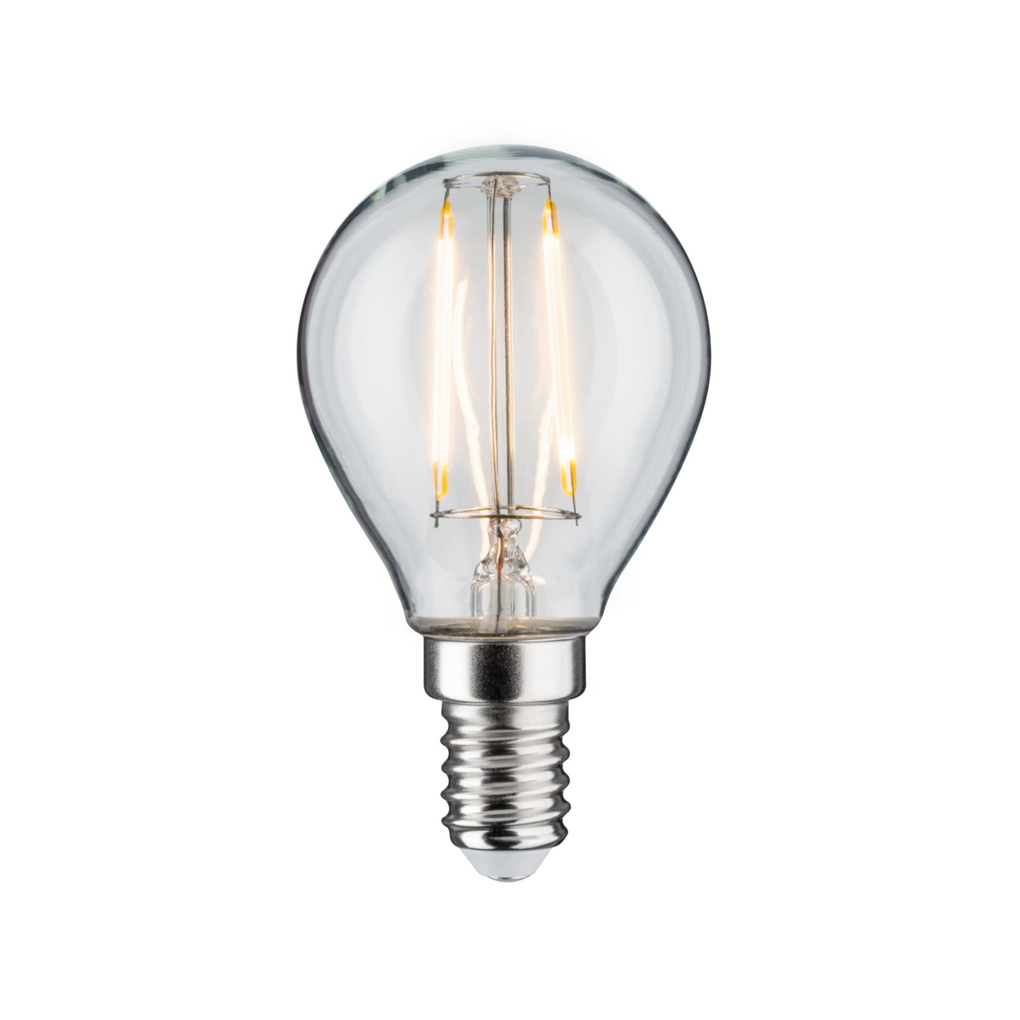 Лампа филаментная Paulmann Капля 2.5Вт 250лм 2700К E14 230В Прозрачный 28370.