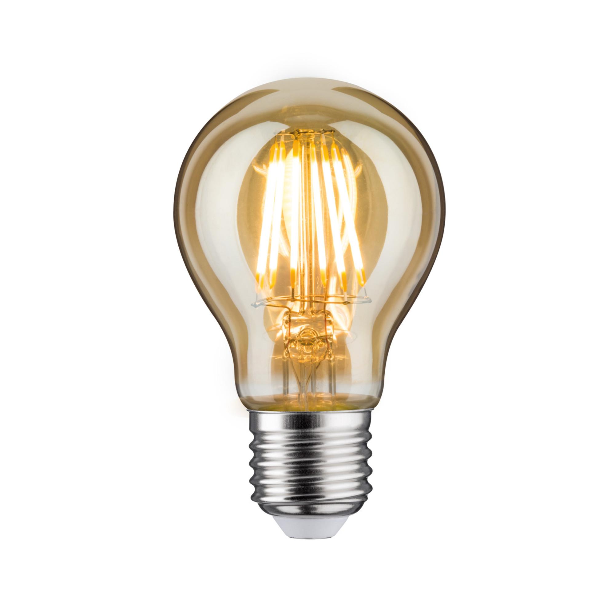 Лампа филаментная Paulmann Общего назначения 7.5Вт 550лм 2500К E27 230В Золото 28373.
