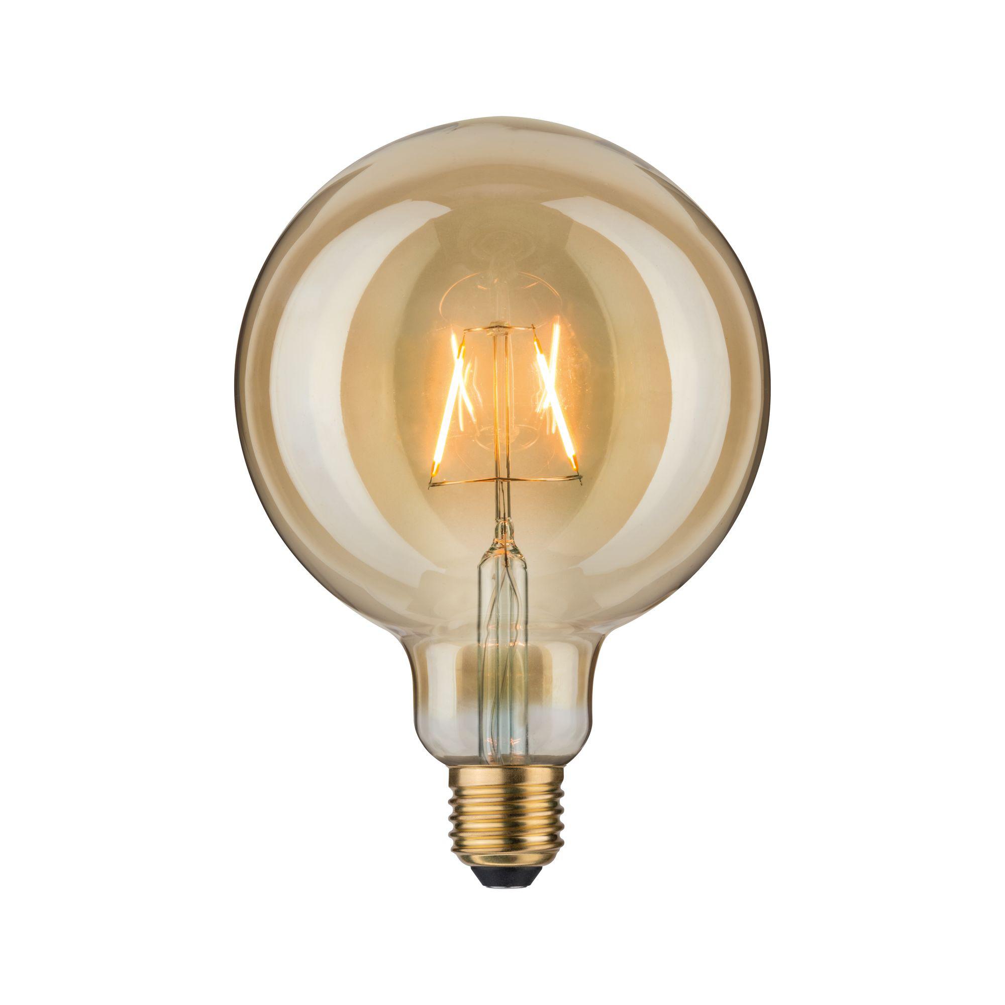 Лампа филаментная Paulmann Шар G125 2.5Вт 170лм 1700К Е27 230В Золото 28379.