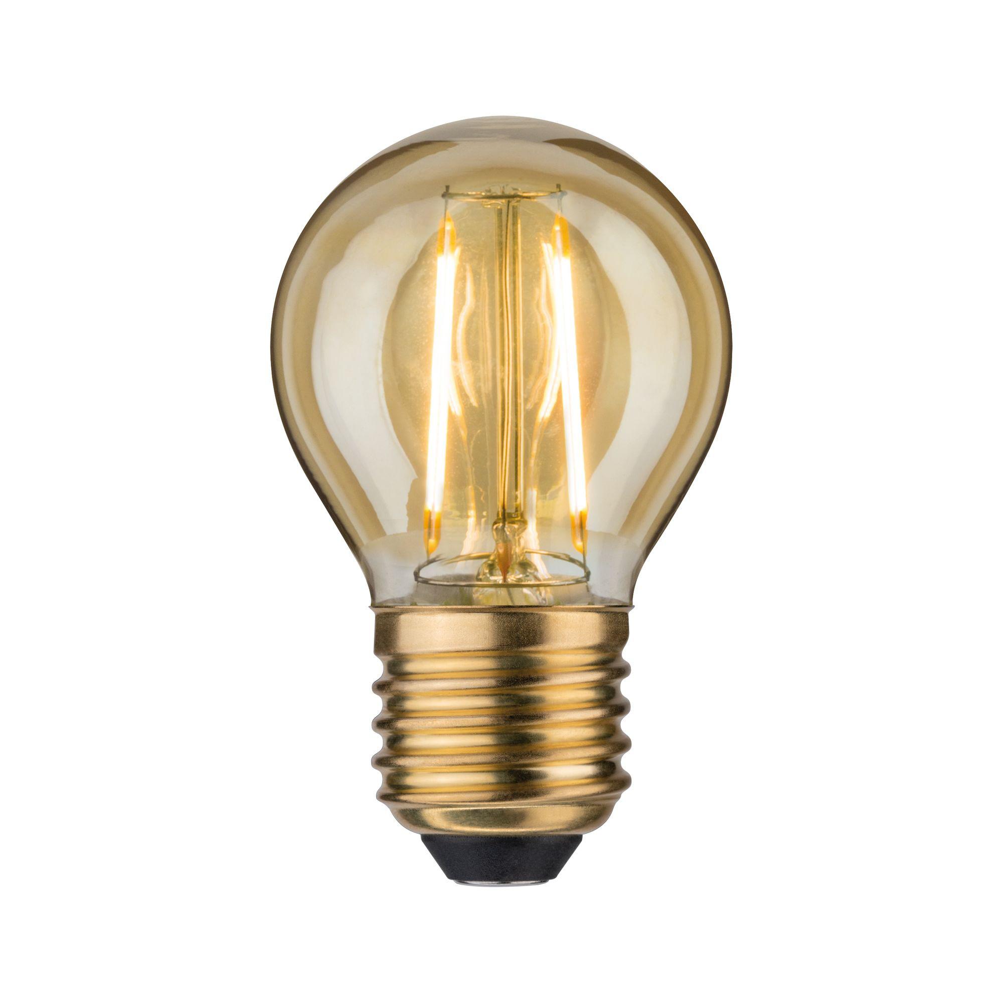 Лампа филаментная Paulmann Капля 2.5Вт 200лм 2500К Е27 230В Золото 28382.