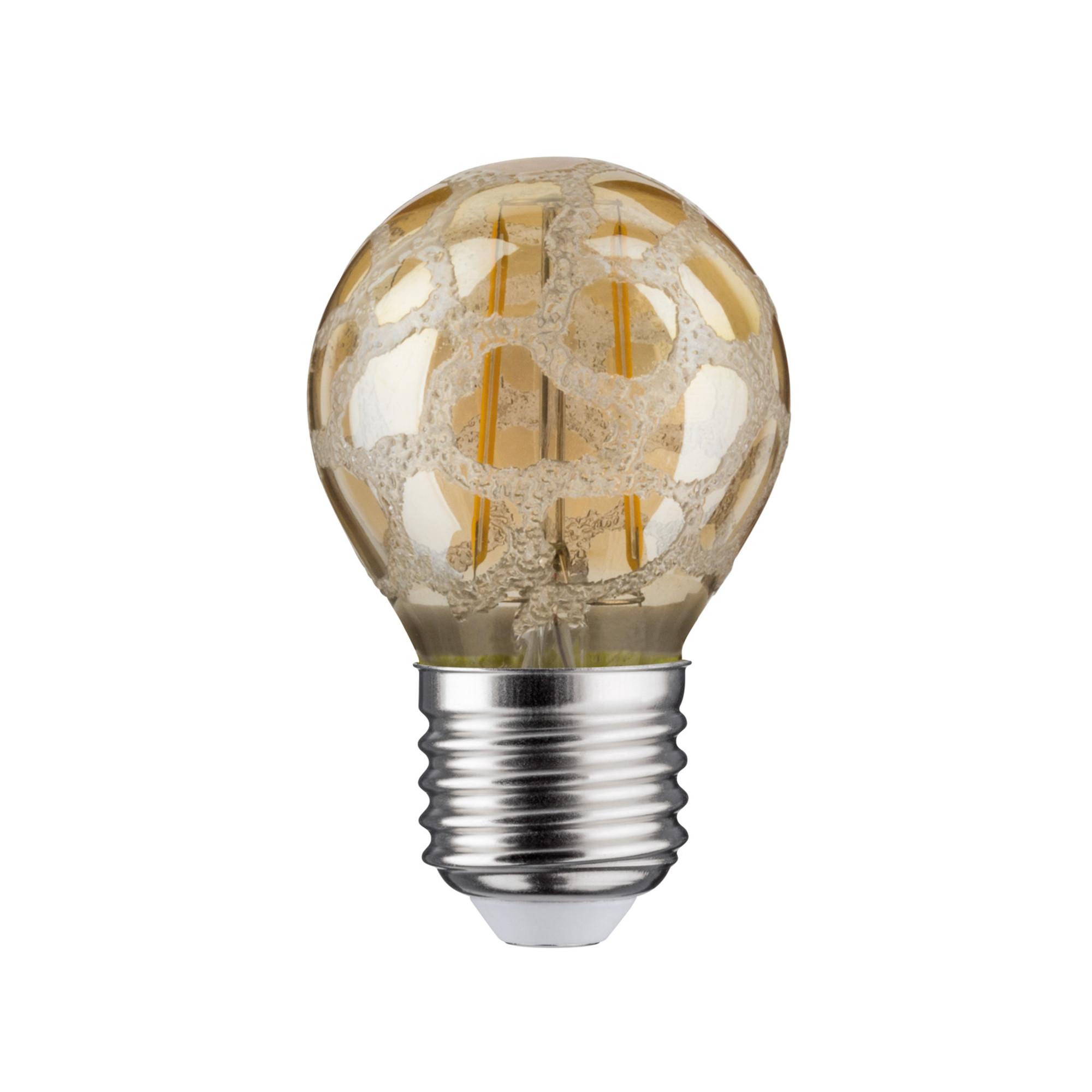 Лампа филаментная Paulmann Капля 2.5Вт 200лм 2500К Е27 230В Золото Кроколед 28383.