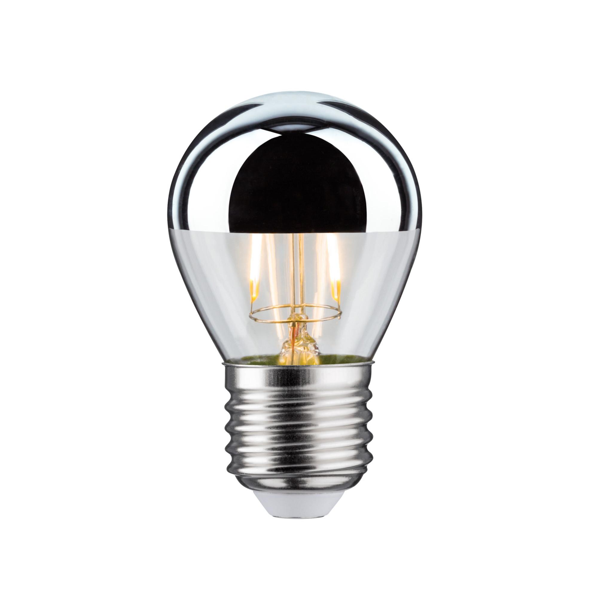 Лампа филаментная Paulmann Капля 2.5Вт 220лм 2700К E27 230В Серебро Зеркальный верх 28384.