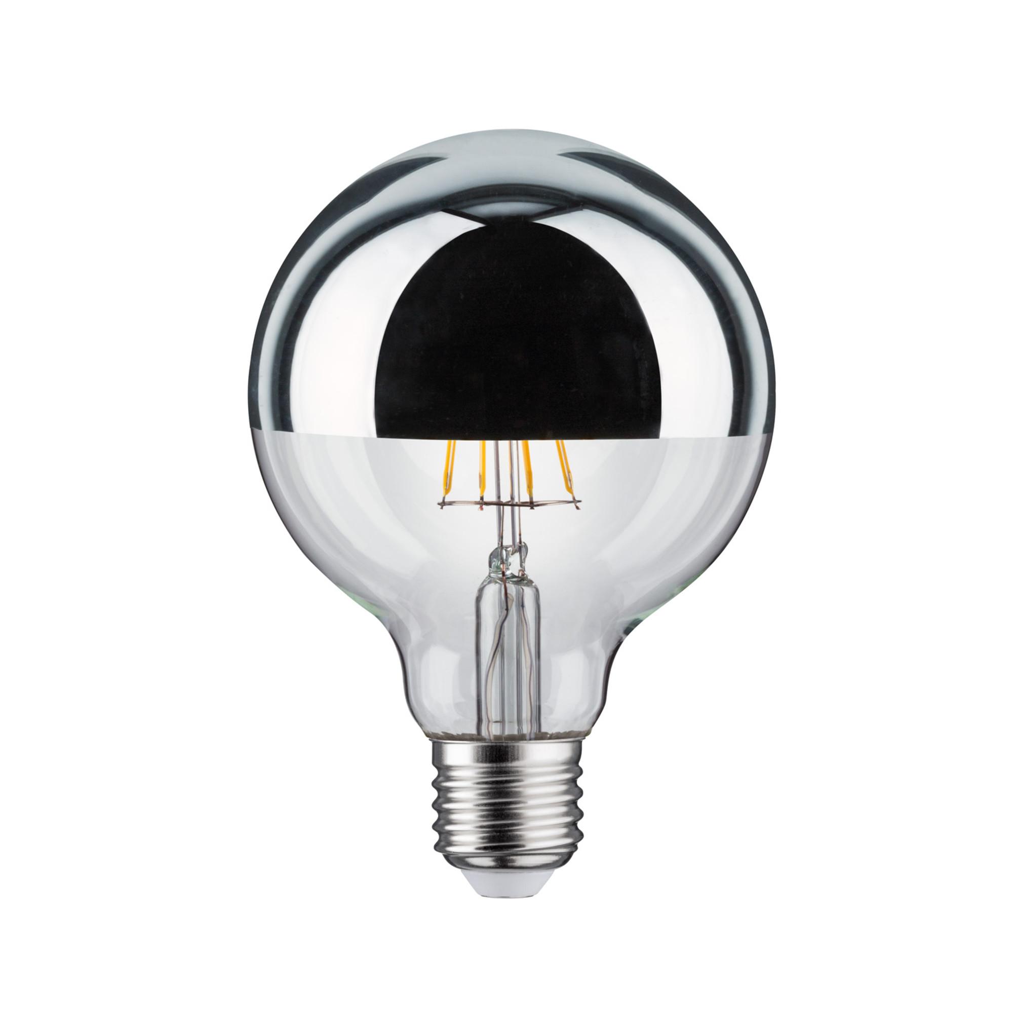 Лампа филаментная Paulmann Шар G95 5Вт 420лм 2700К Е27 230В Серебро Зеркальный верх 28387.