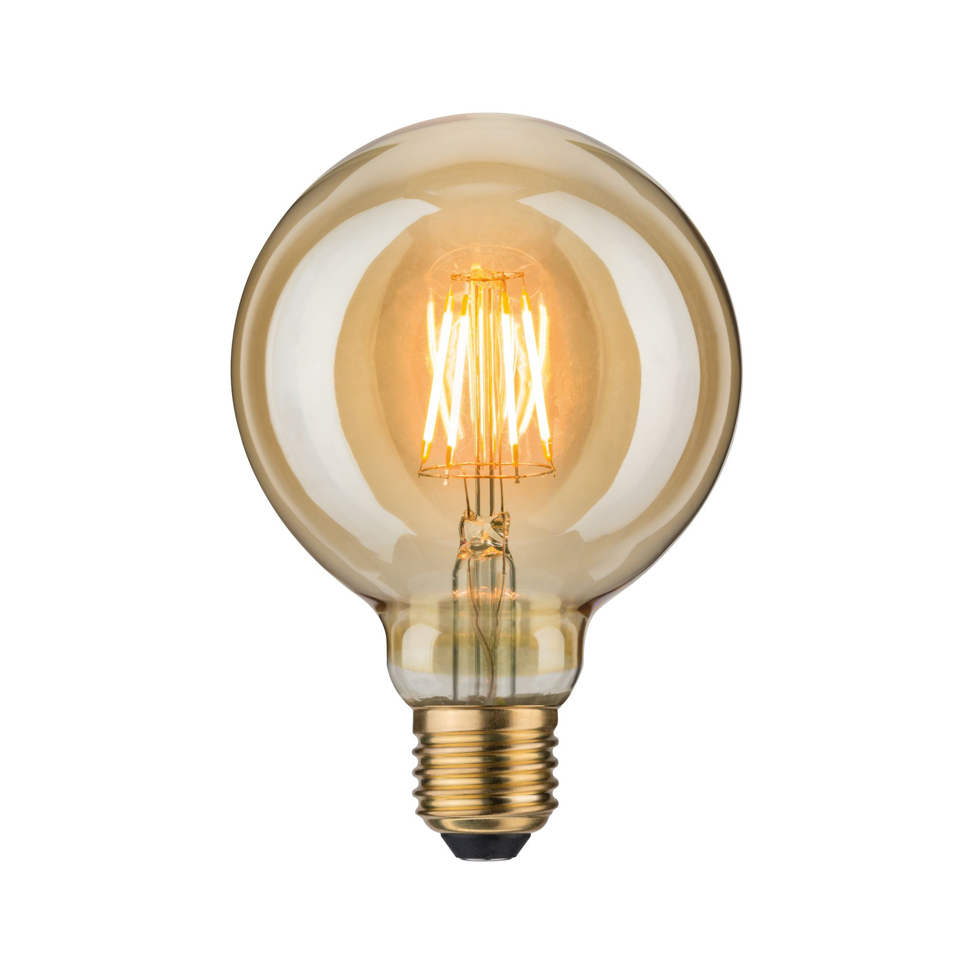 Лампа филаментная Paulmann Шар G95 6.5Вт 400лм 1700К Е27 230В Золото 28389.