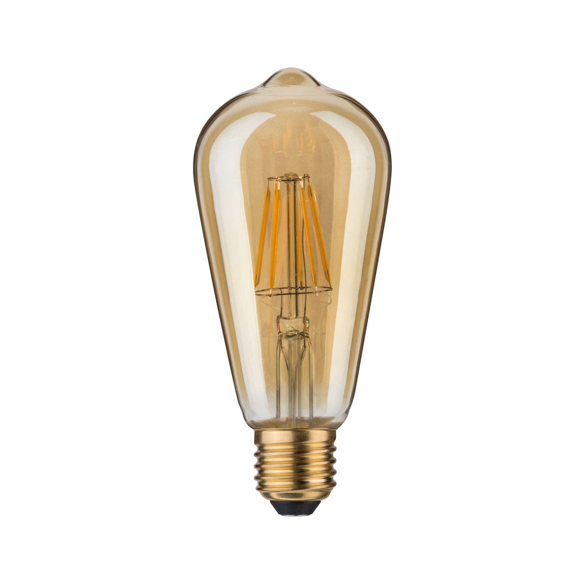Лампа филаментная Paulmann Vintage ST64 7.5Вт 550лм 2500К E27 230В Золото 28391.