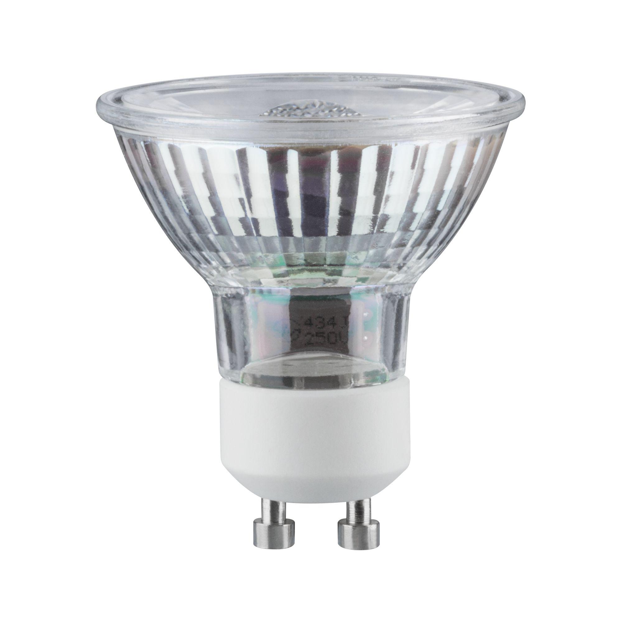 Лампа светодиодная Paulmann Рефлекторная 5.3Вт 345лм GU10 2700K 230В Серебро 28410.