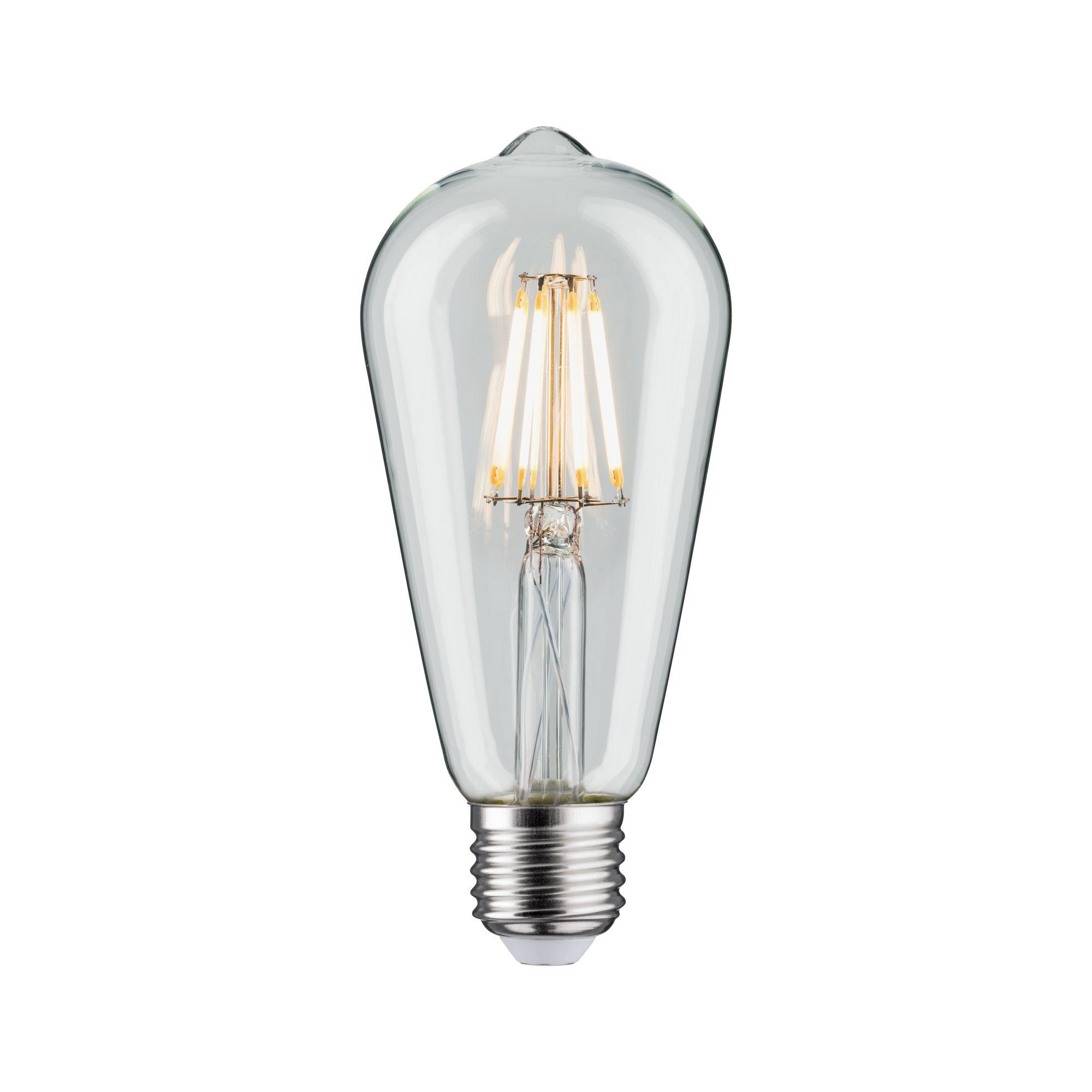 Лампа филаментная Paulmann Retro ST64 7.5Вт 806лм 2700К E27 230В Прозрачный 28425.