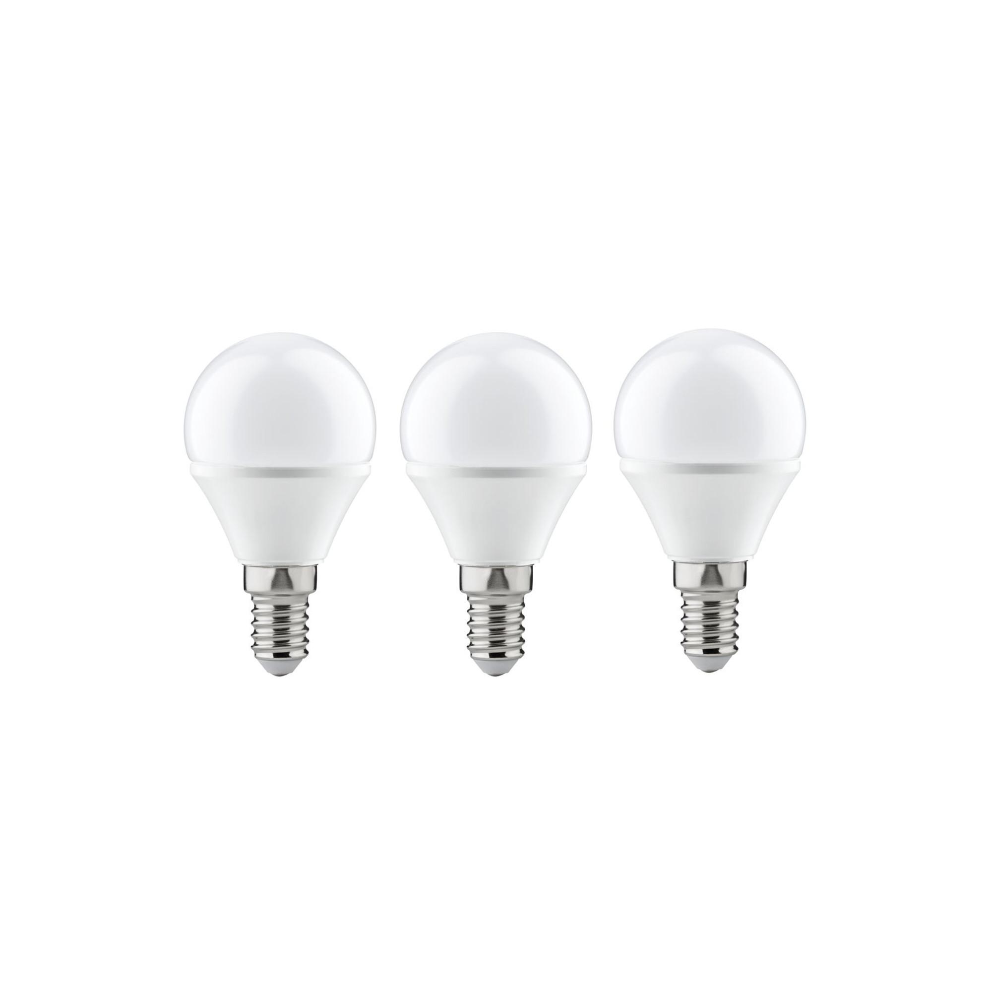 Лампа светодиодная Paulmann Капля 4Вт 250лм 2700К E14 230В Опал Набор 3шт. 28427.