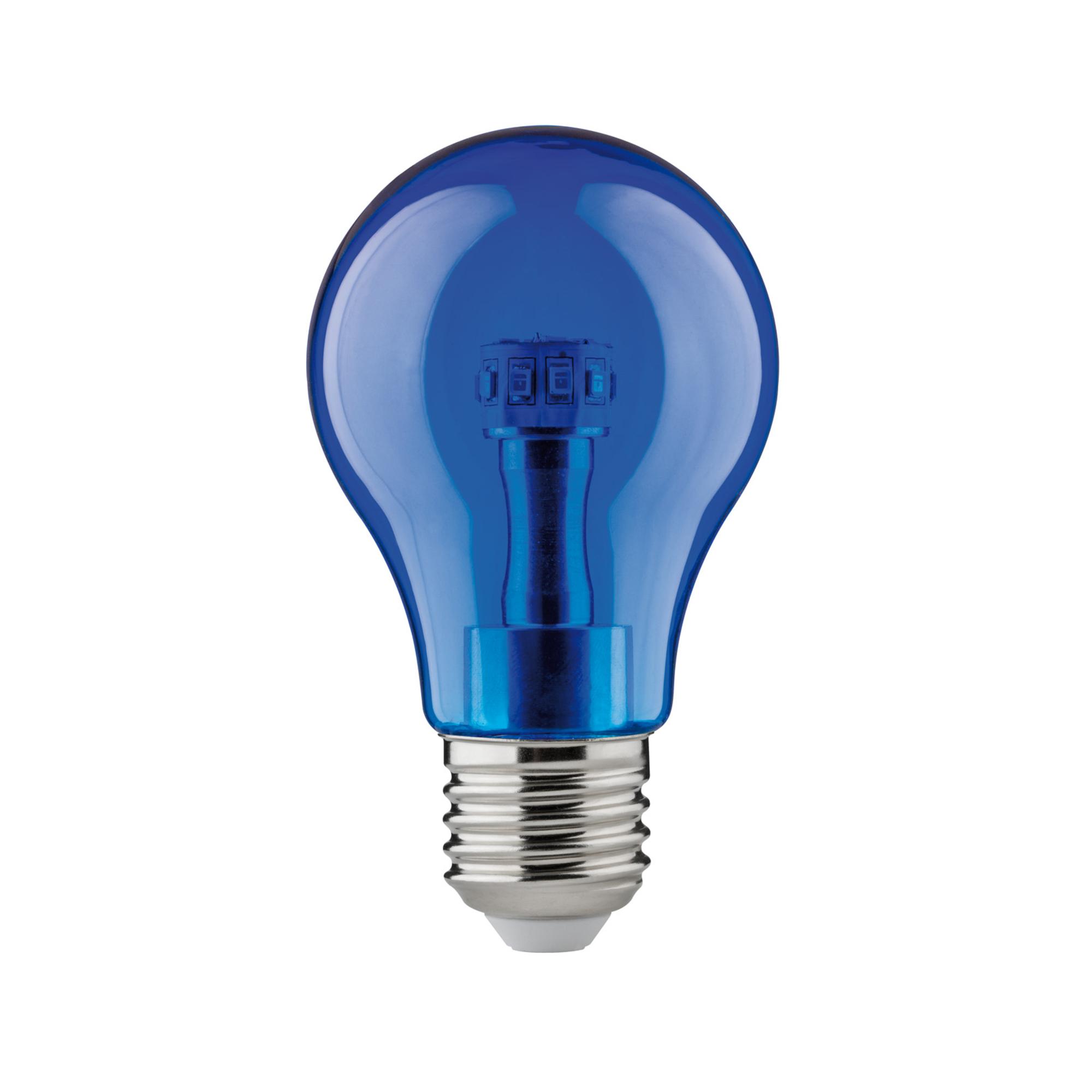 Лампа светодиодная Paulmann Общего назначения 1Вт 10лм E27 230В Синий 28450.