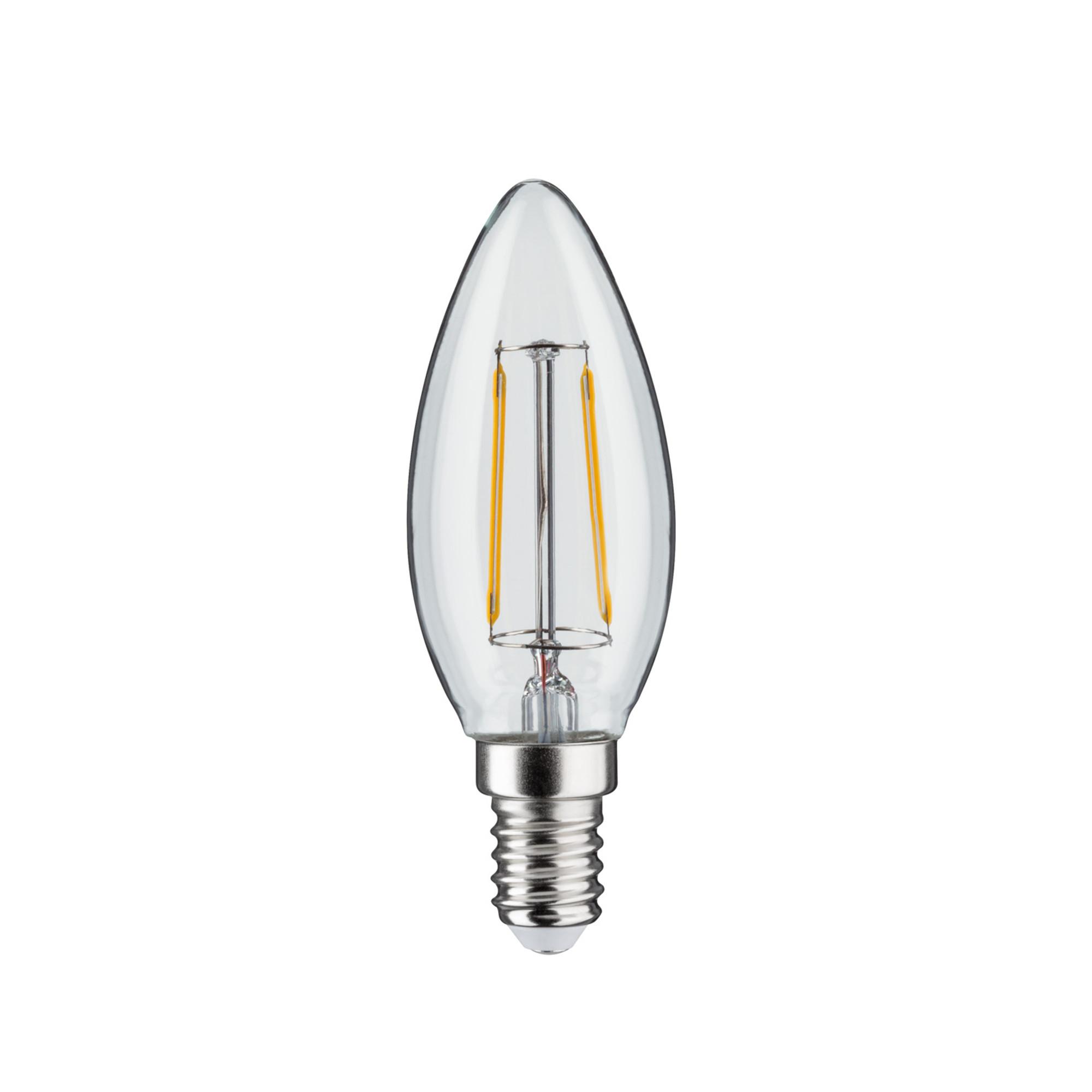 Лампа филаментная Paulmann Свеча 2Вт 250лм 2700К Е14 230В Прозрачный Набор 2 шт. 28474.