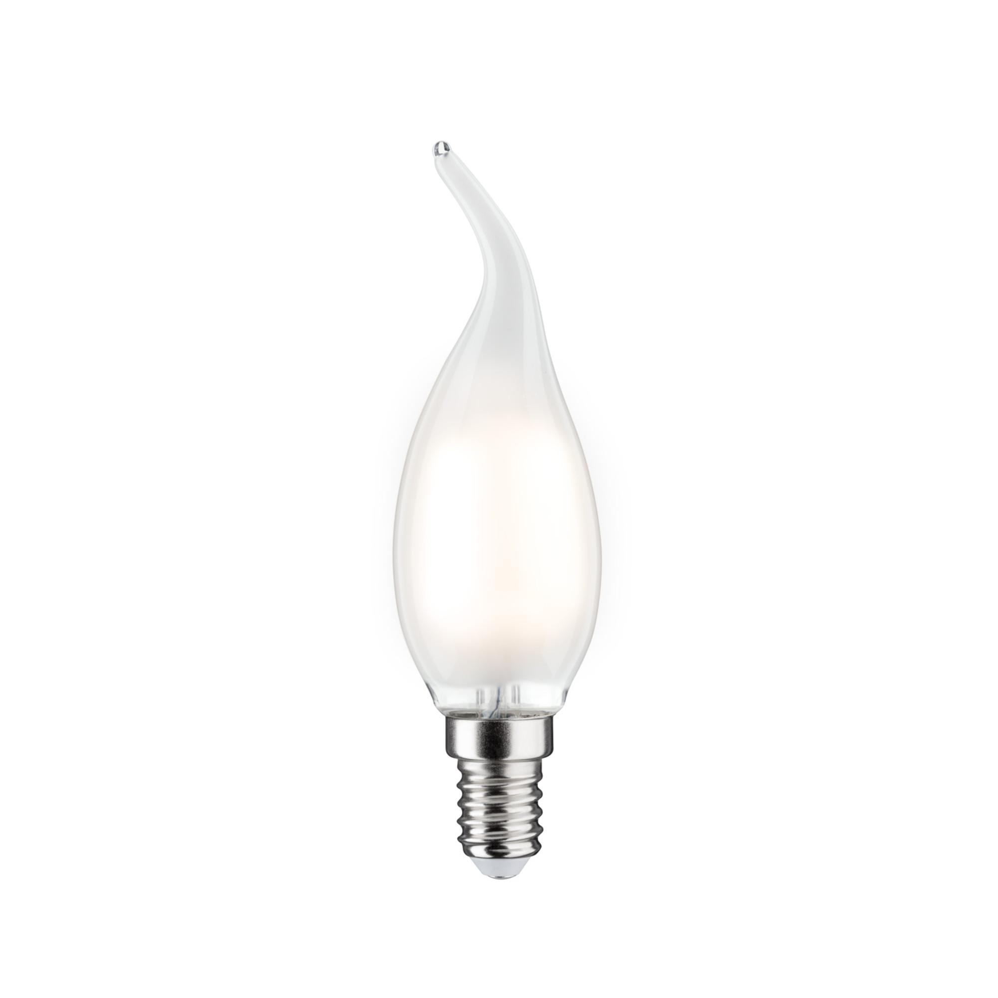 Лампа филаментная Paulmann Ретро Свеча на ветру 4.5Вт 470лм 2700К Е14 230В Сатин Регулируемая яркость 28492.