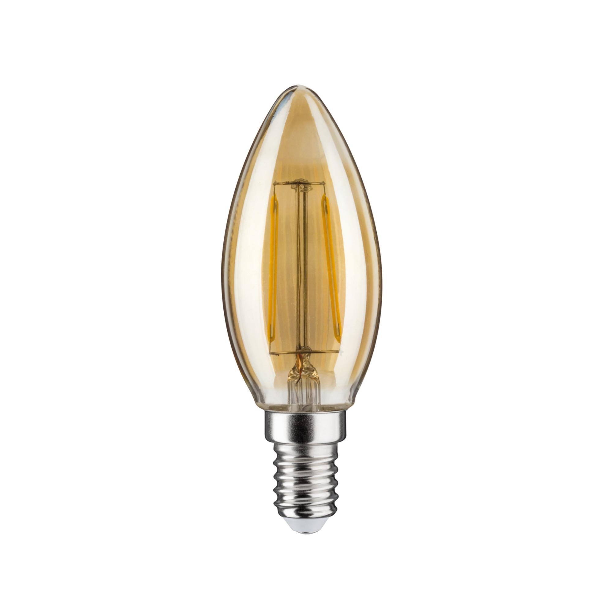 Лампа филаментная Paulmann Ретро Свеча 4.5Вт 430лм 2500К Е14 230В Золото Регулируемая яркость 28493.