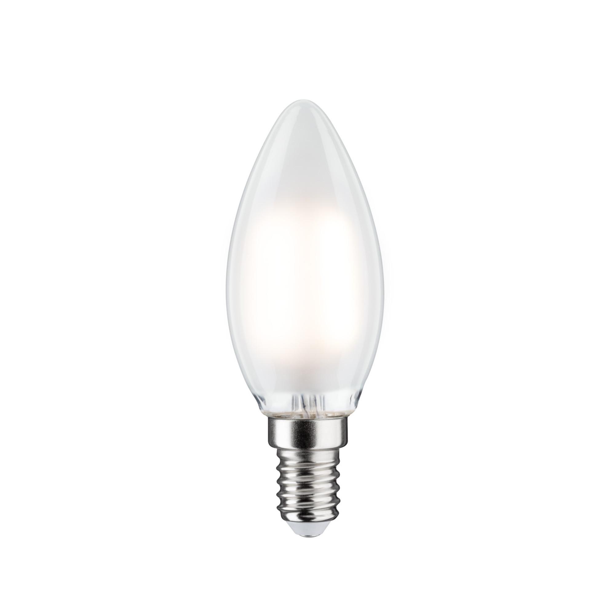 Лампа филаментная Paulmann Ретро Свеча 4.5Вт 470лм 2700К Е14 230В Сатин Регулируемая яркость 28496.