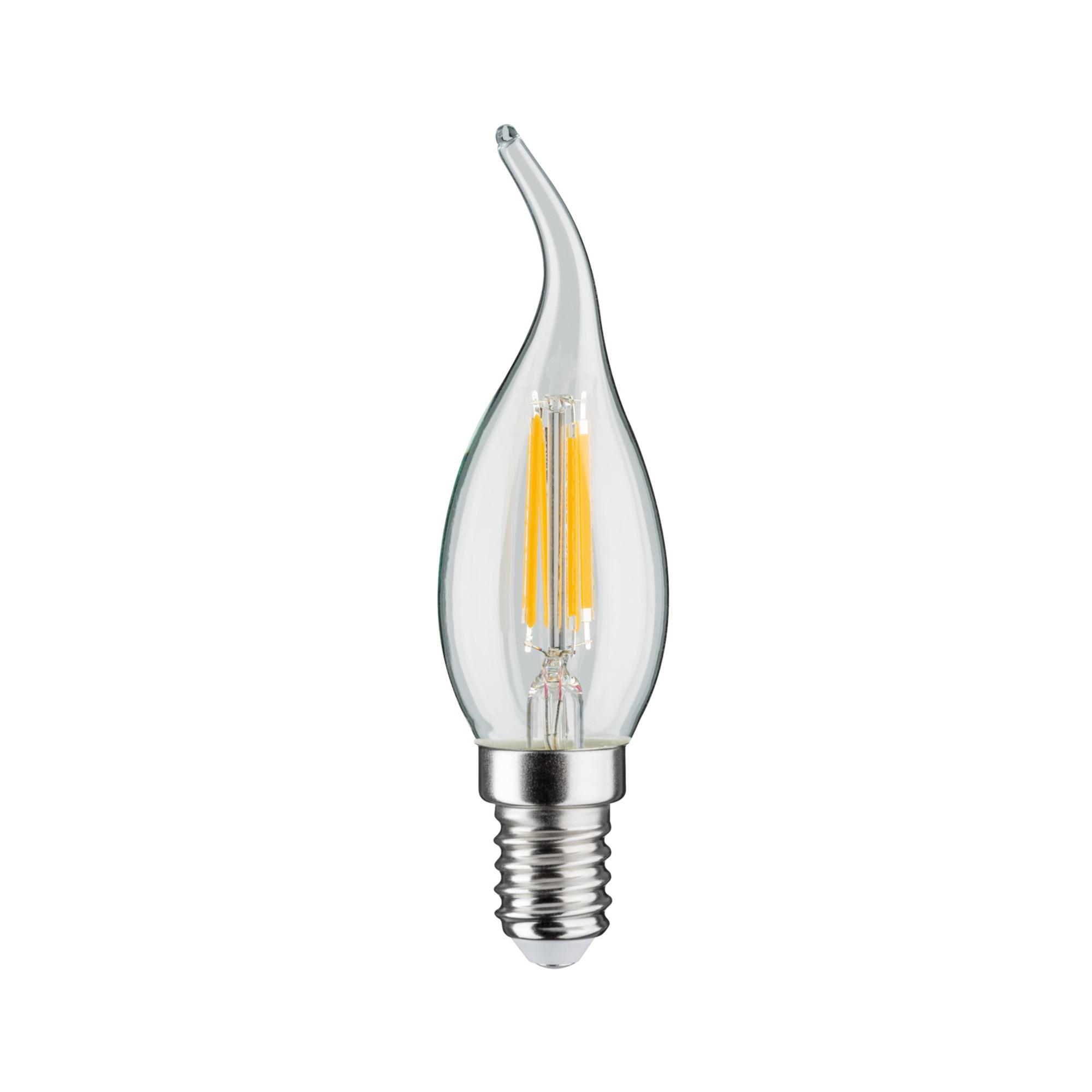 Лампа филаментная Paulmann Ретро Свеча на ветру 4.5Вт 470лм 2700К Е14 230В Прозрачный Регулируемая яркость 28508.