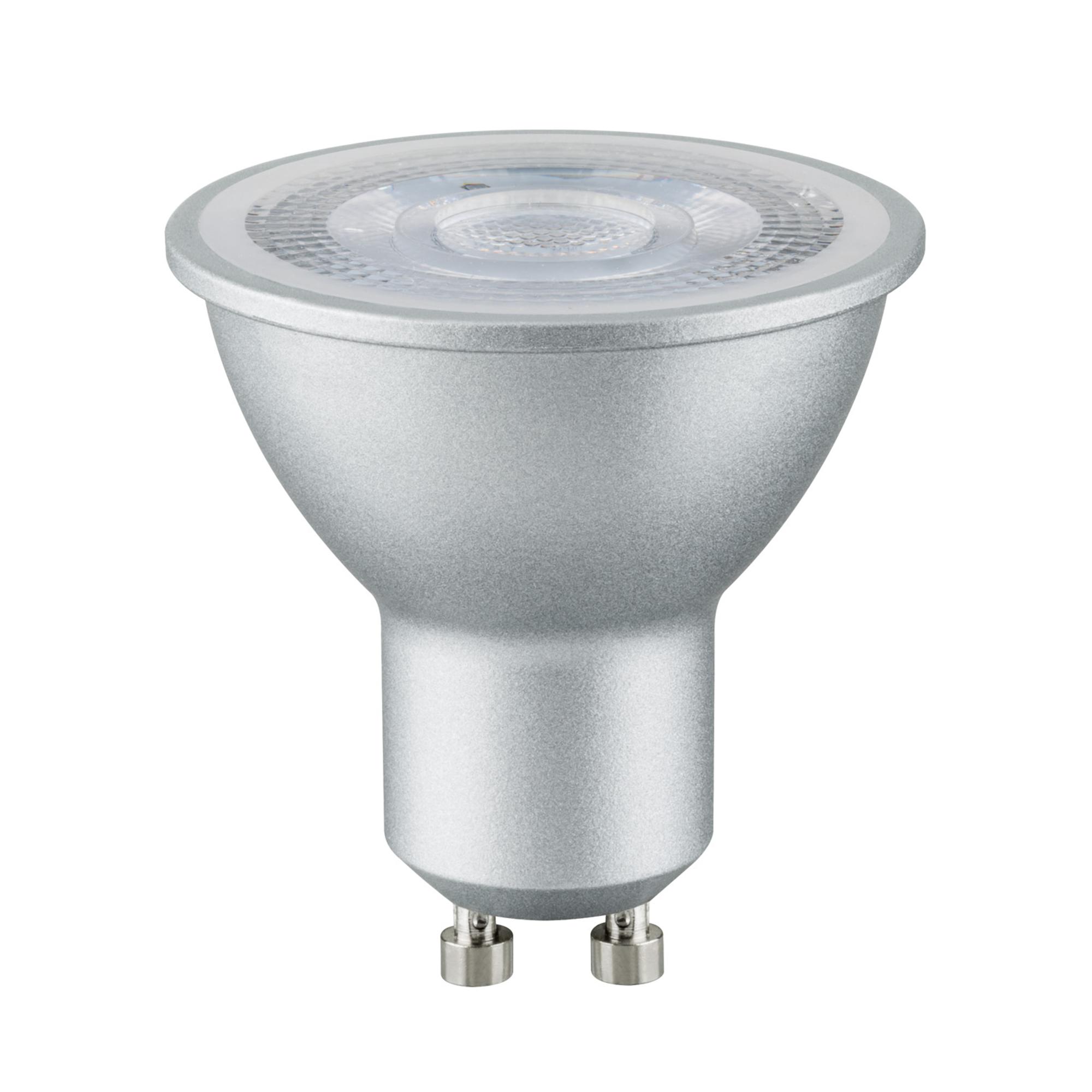 Лампа светодиодная Paulmann Рефлекторная 7Вт 460лм 2700K GU10 230В Алюминий Дим. 28464.