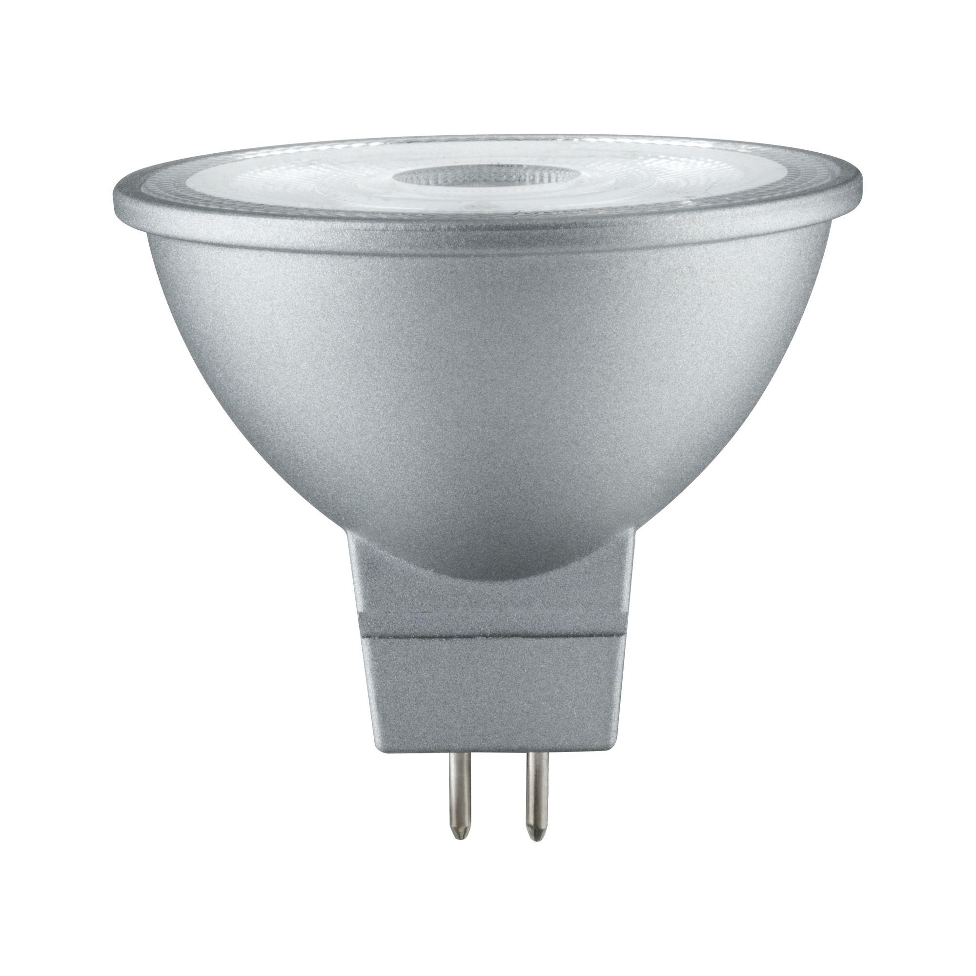Лампа светодиодная Paulmann Рефлекторная 4.5Вт 345лм 2700K GU5.3 230В Алюминий Дим. 28465.