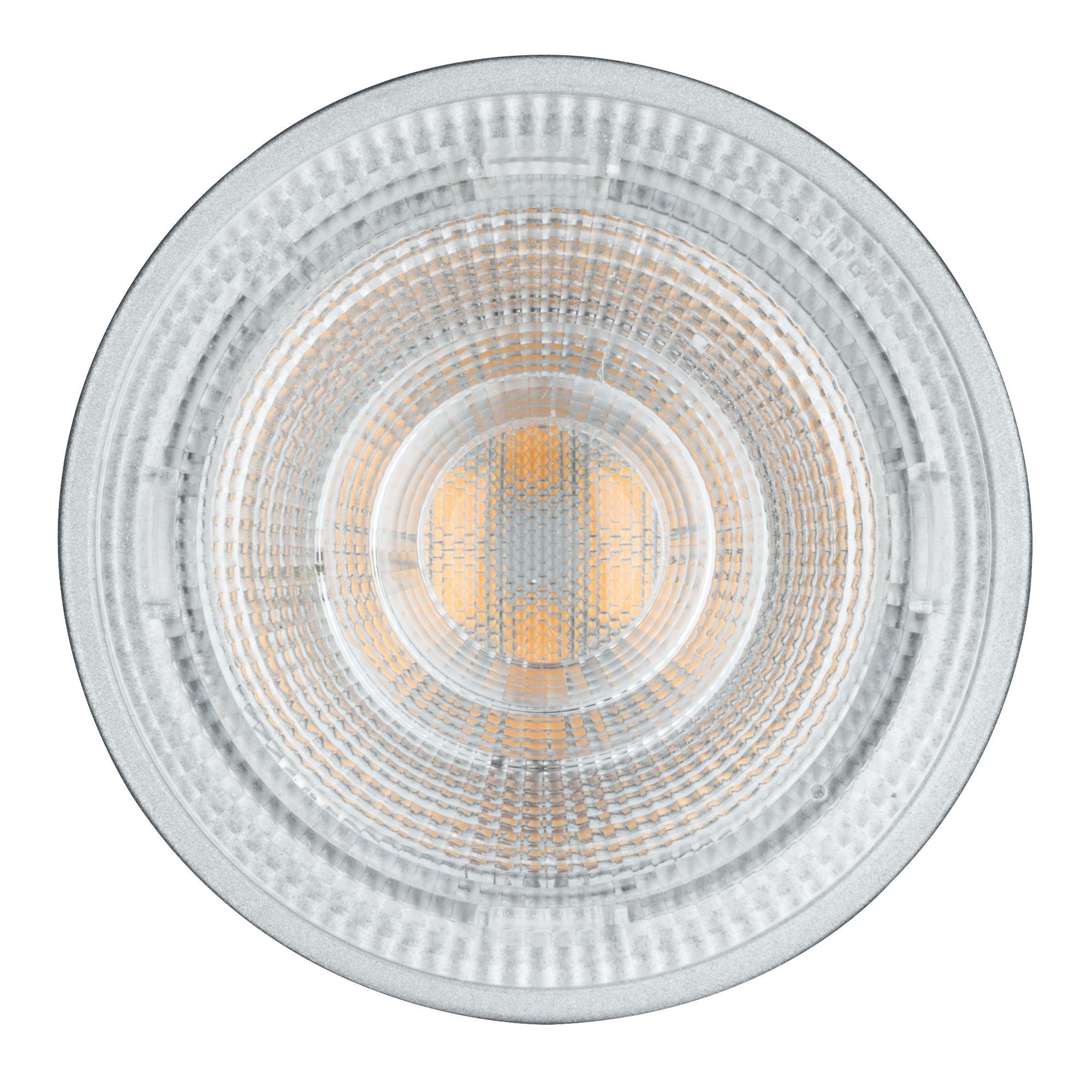 Лампа светодиодная Paulmann Рефлекторная 6.5Вт 460лм 2700K GU5.3 230В Алюминий Дим. 28466.