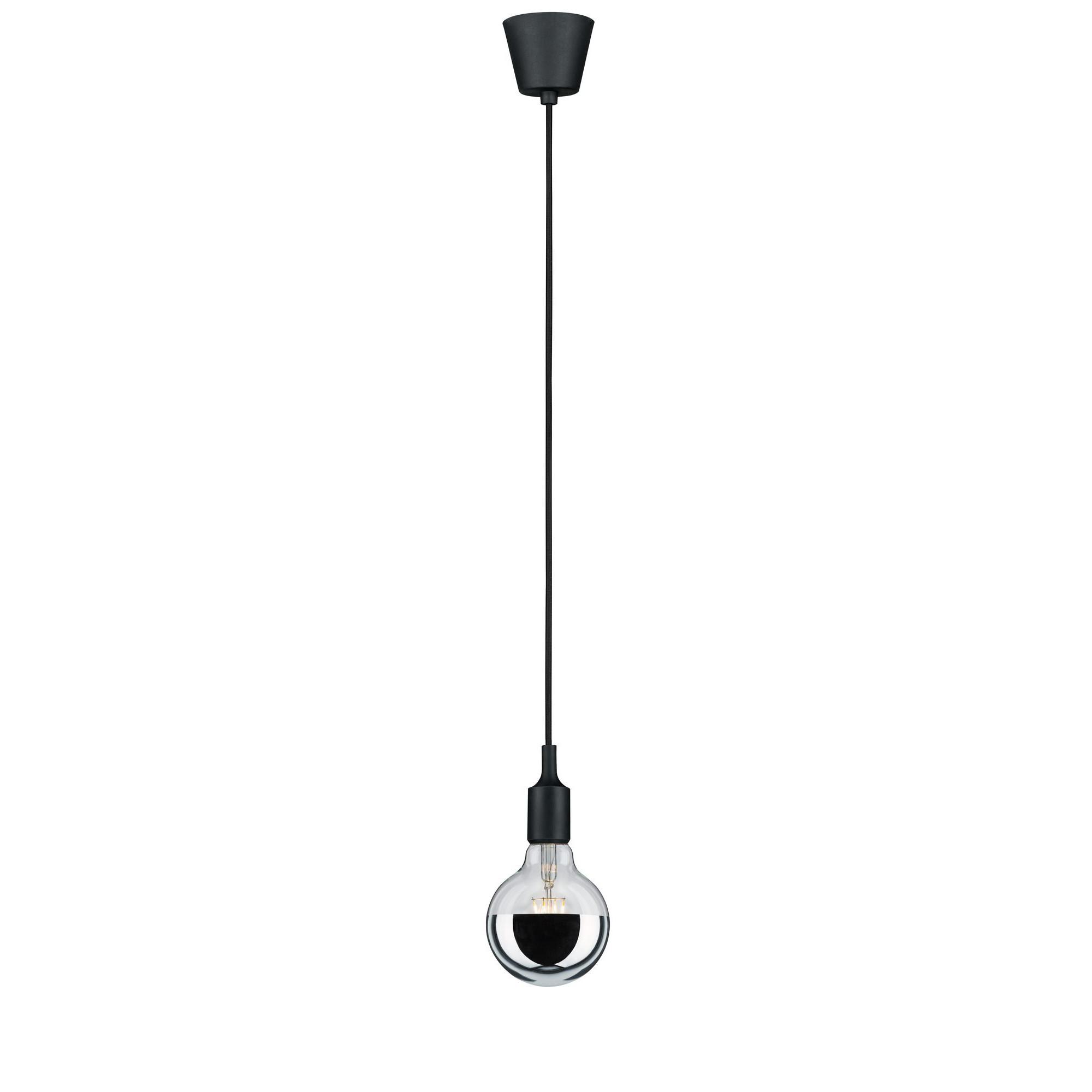 Лампа филаментная Paulmann Шар Ретро G95 6Вт 750лм 2700К Е27 230В Серебро Зеркальный верх С регулируемой яркостью 28478.