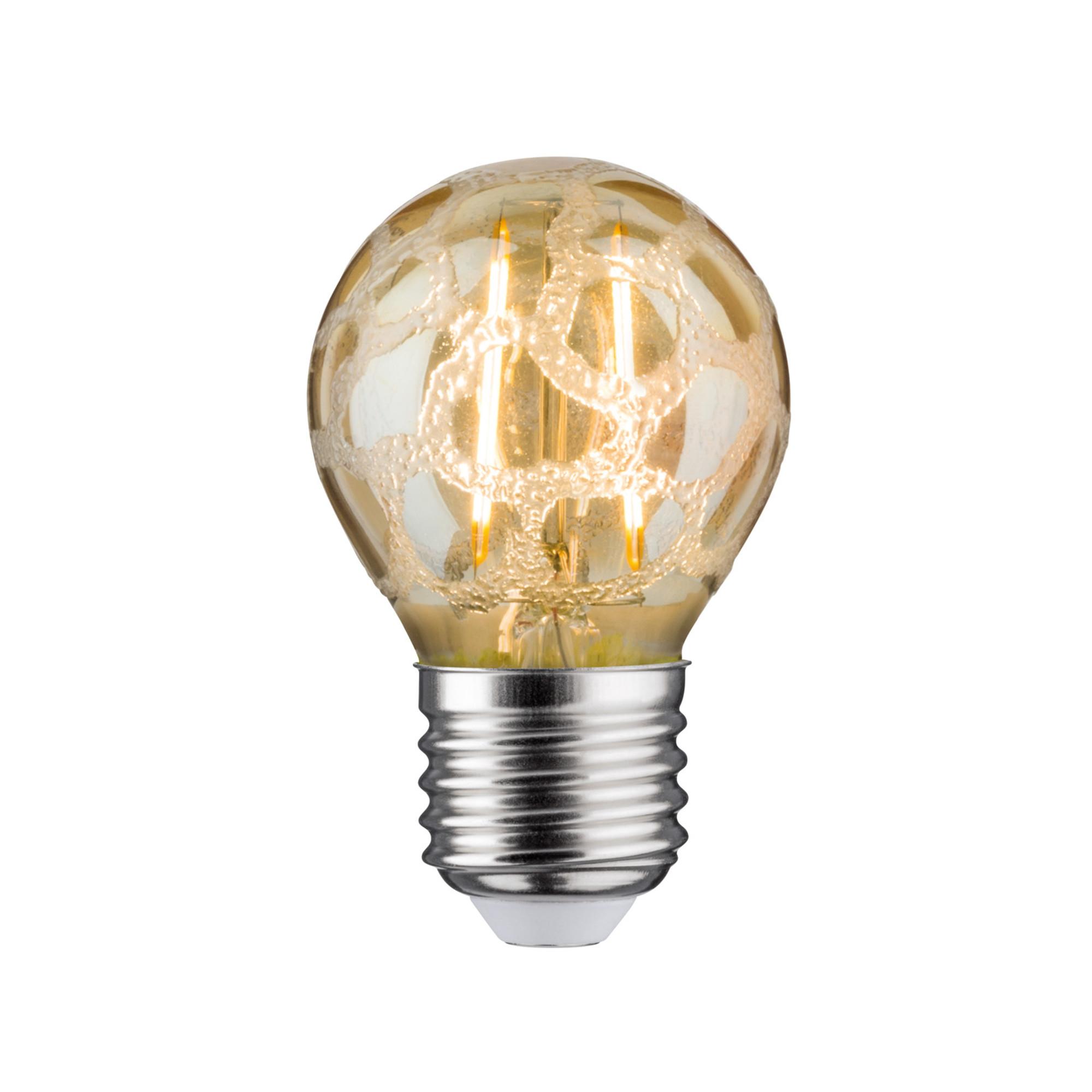 Лампа филаментная Paulmann Ретро Капля 4.5Вт 400лм 2500К Е27 230В Золото Кроколед С регулируемой яркостью 28482.