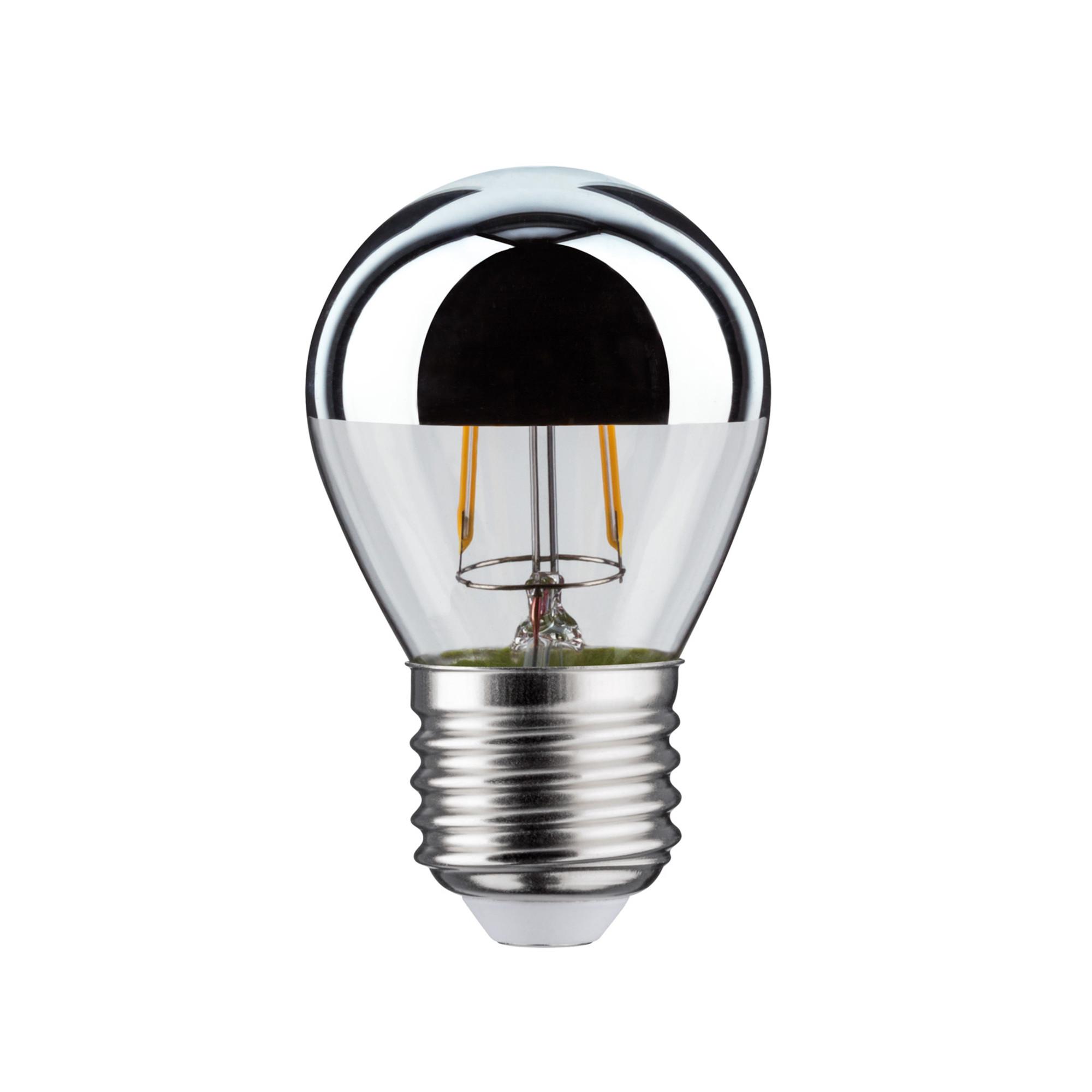 Лампа филаментная Paulmann Ретро Капля 4.5Вт 400лм 2700К Е27 230В Серебро Зеркальный верх Регулируемая яркость 28483.